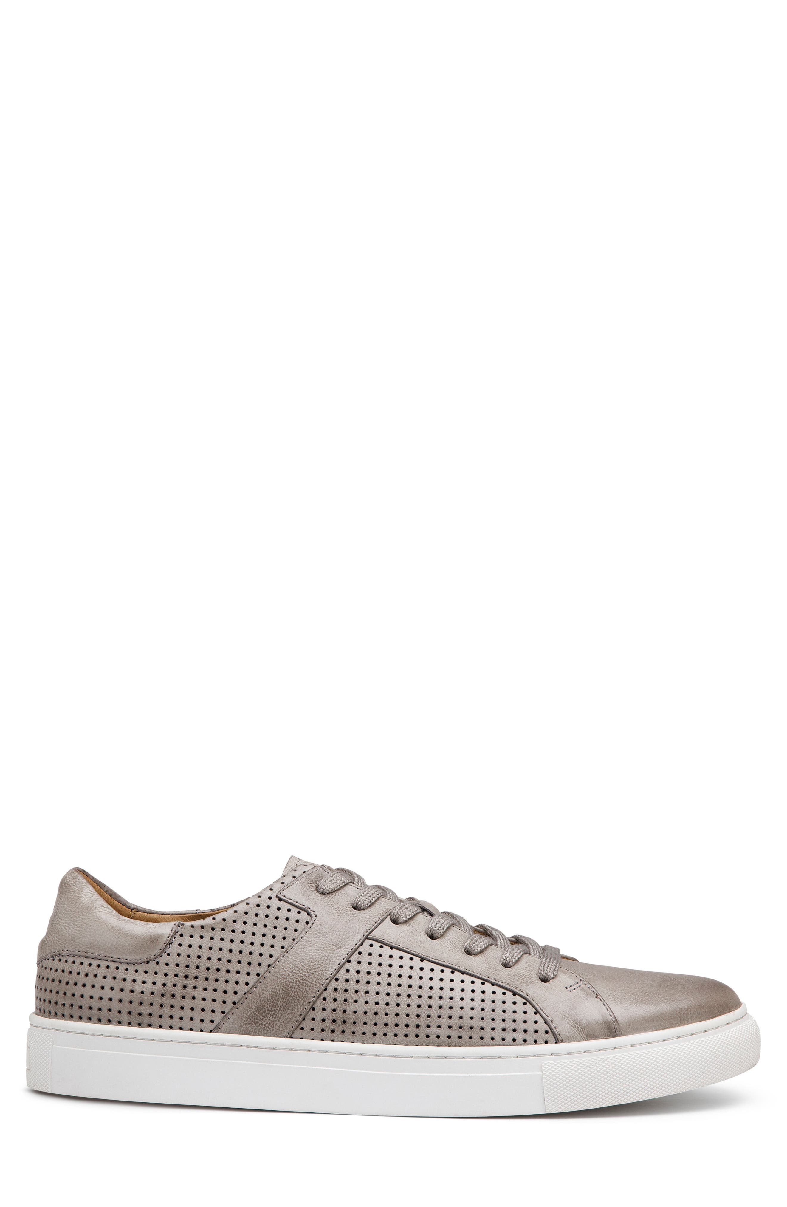 TRASK,                             Aaron Sneaker,                             Alternate thumbnail 3, color,                             LIGHT GREY LEATHER