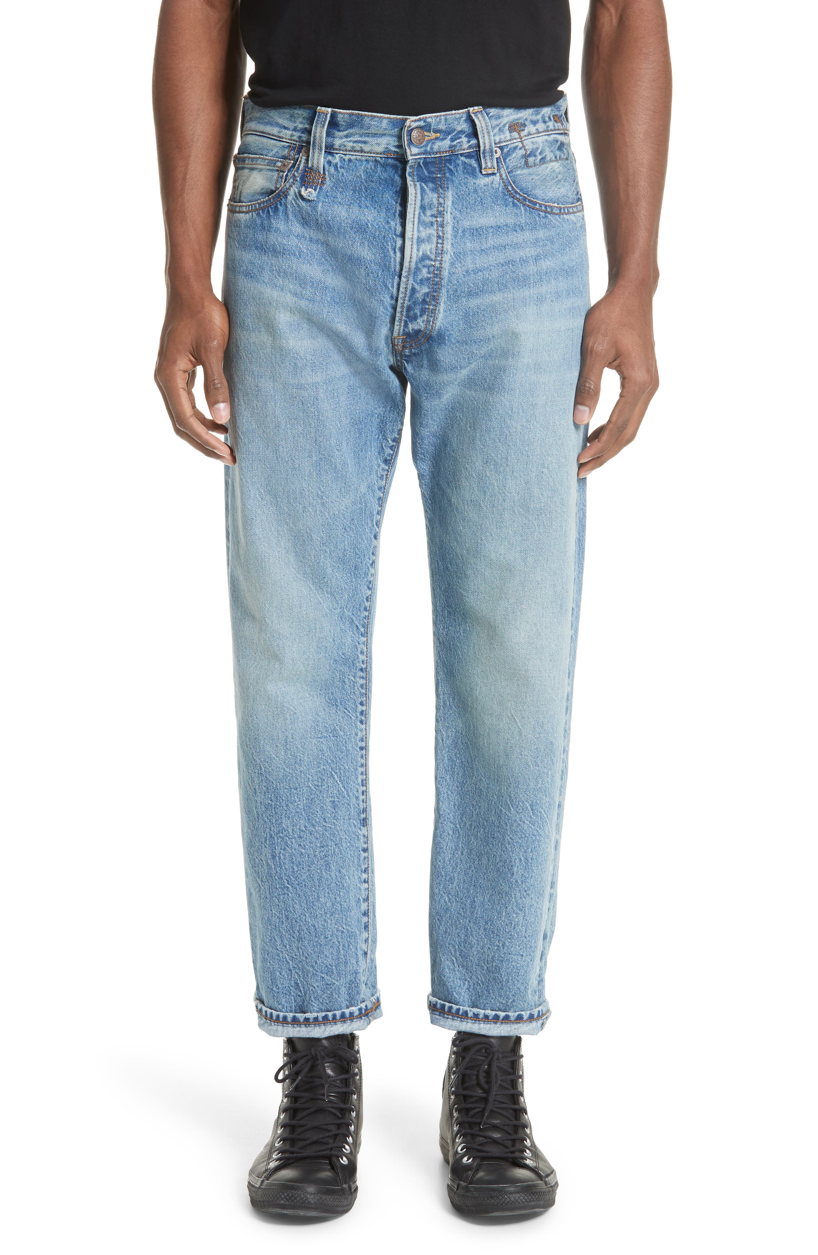 Hayden Relaxed Fit Jeans,                         Main,                         color, BLUE