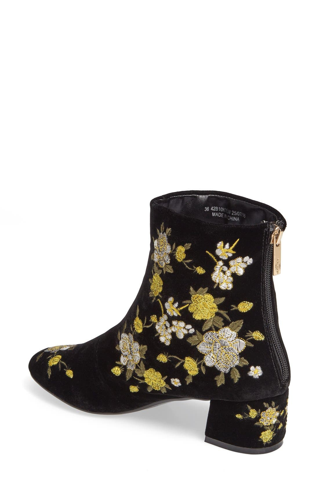 Blossom Embroidered Bootie,                             Alternate thumbnail 4, color,