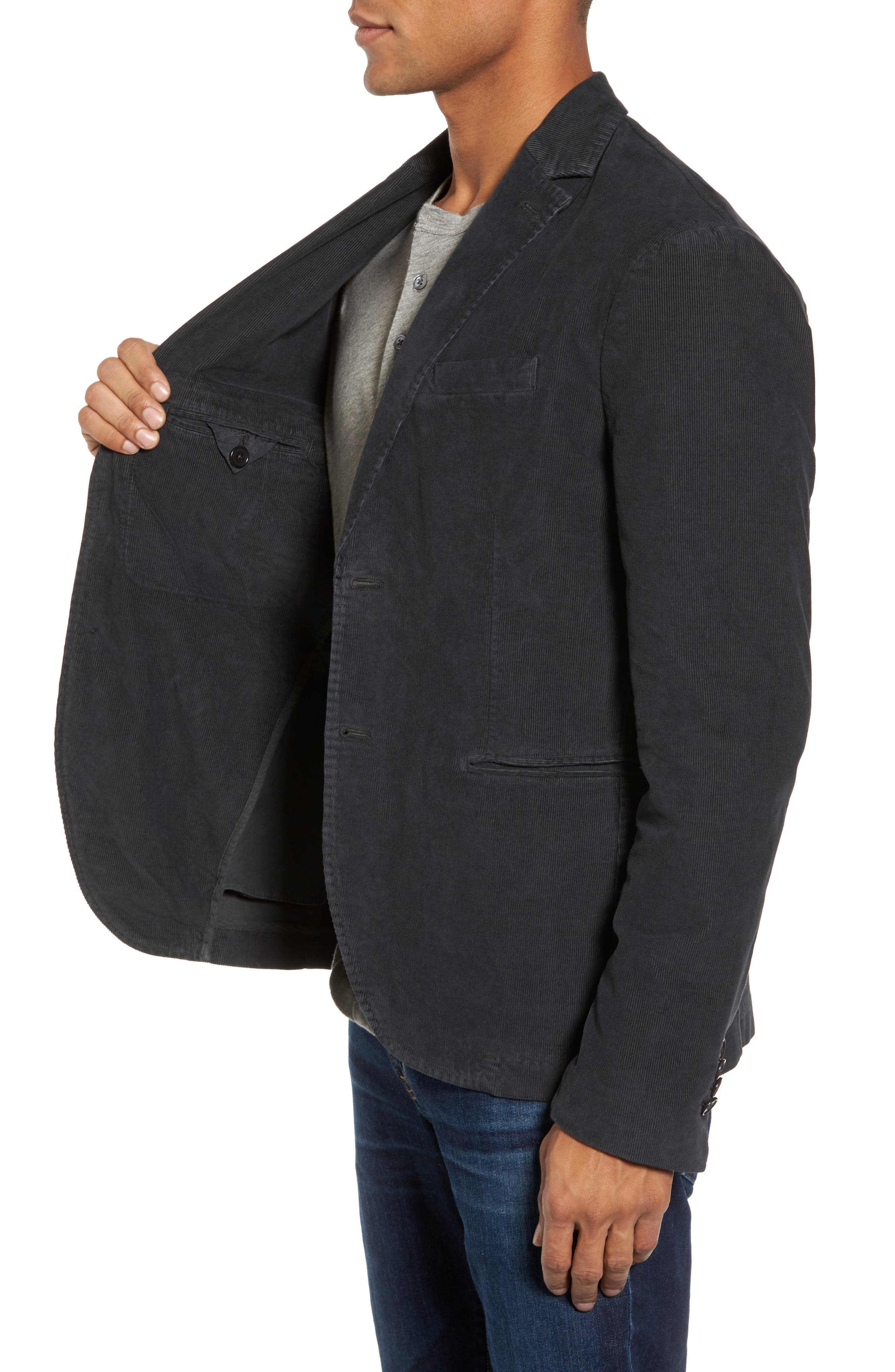 Stretch Corduroy Jacket,                             Alternate thumbnail 3, color,                             020