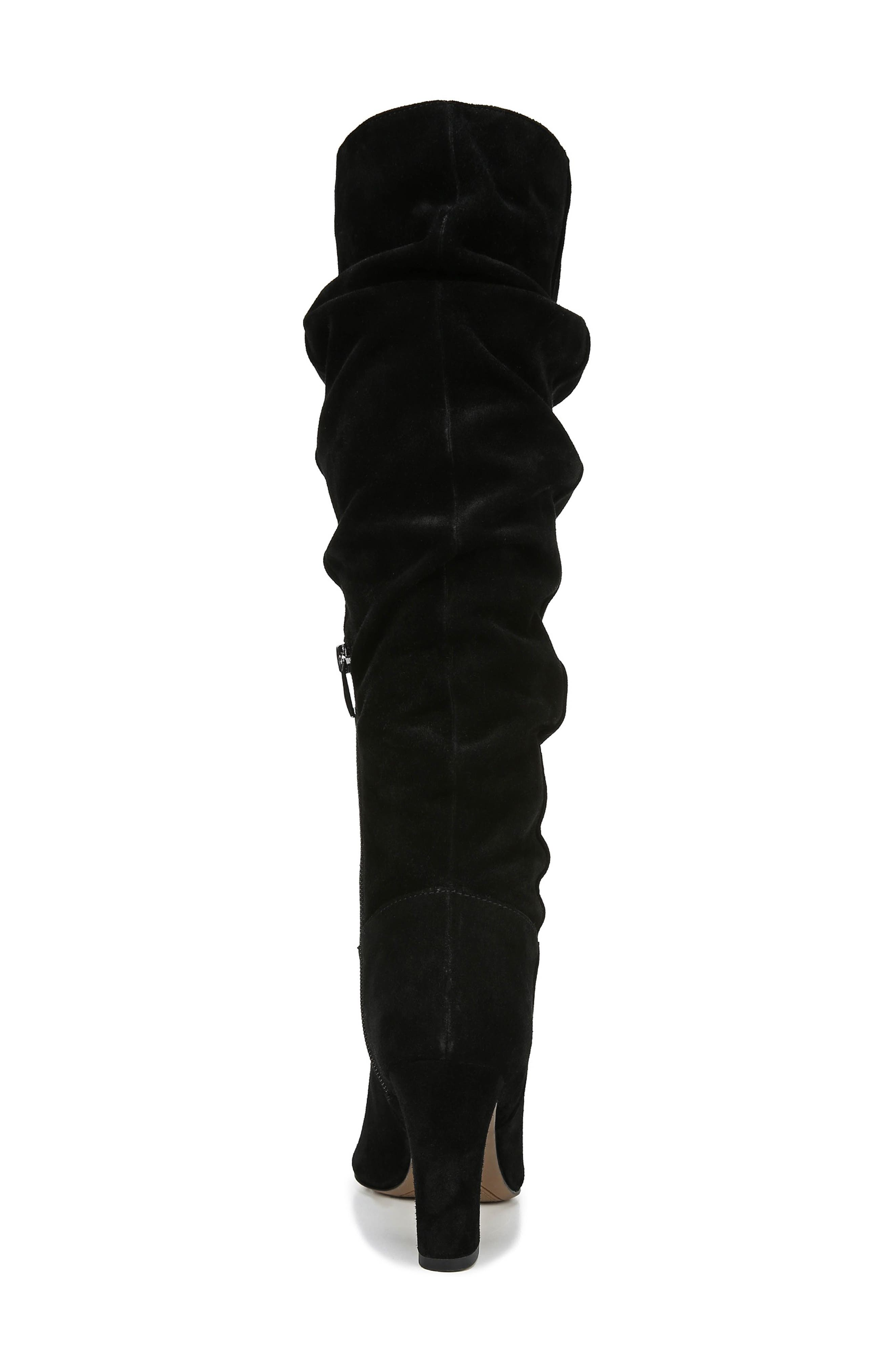 Artesia Knee High Boot,                             Alternate thumbnail 7, color,                             BLACK SUEDE