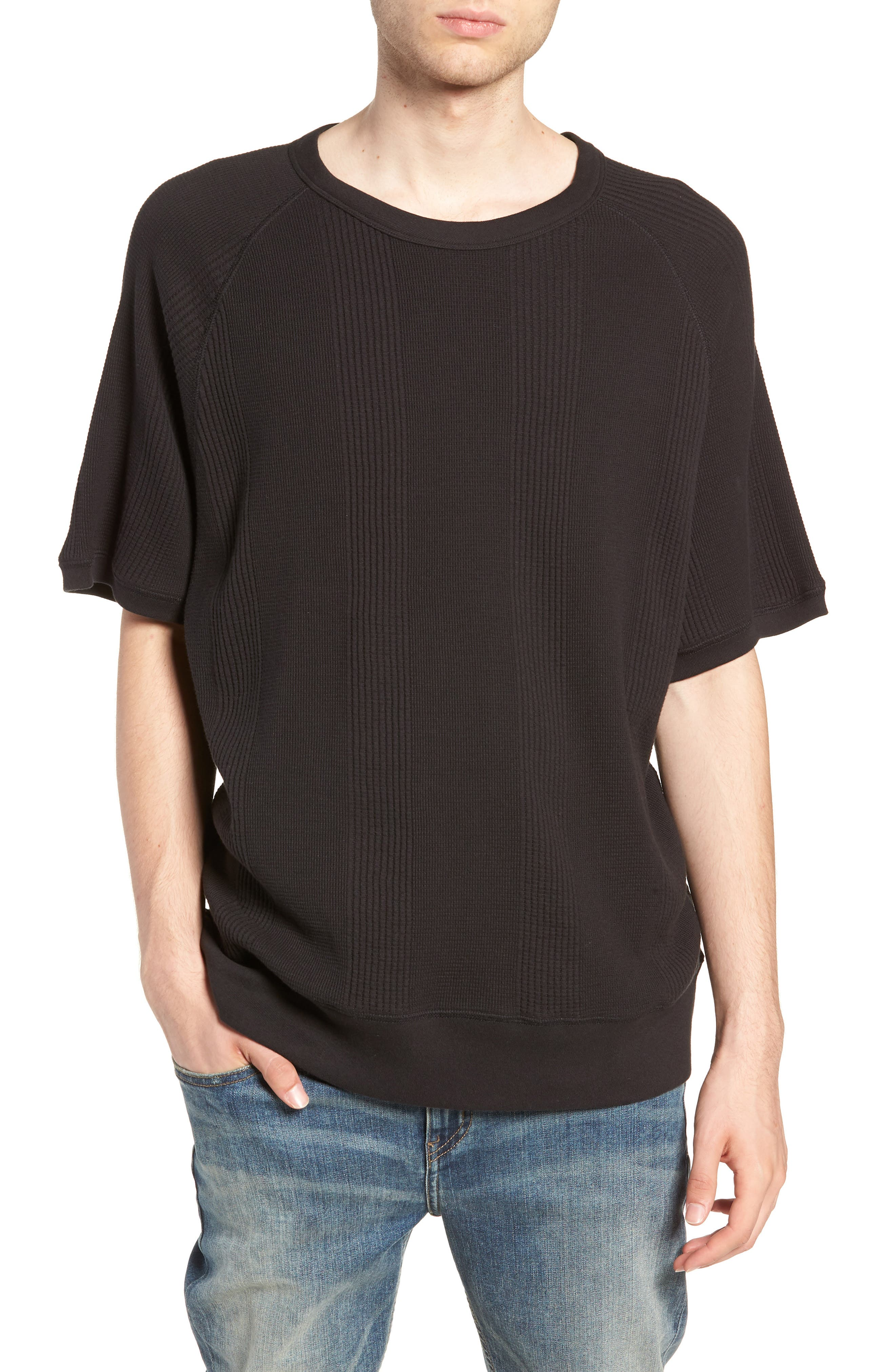 SATURDAYS NYC Kyrie Waffle Stripe T-Shirt, Main, color, 001