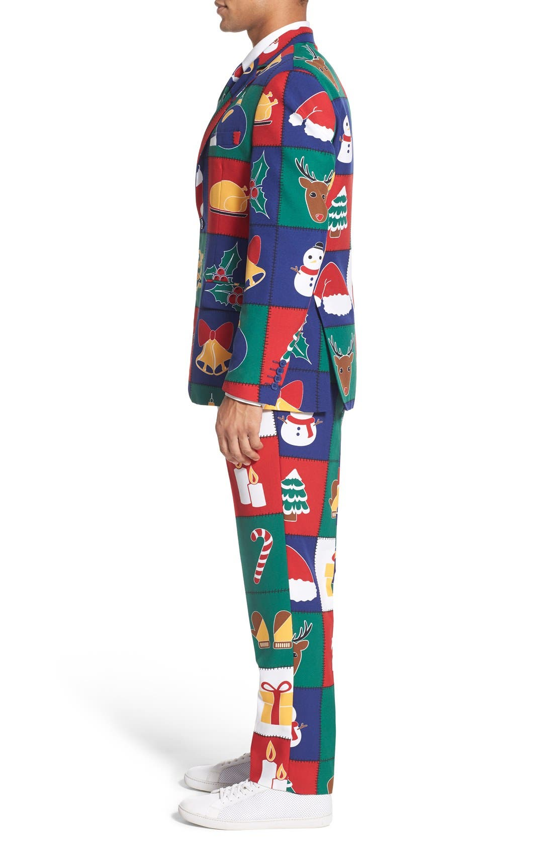 'Quilty Pleasure' Holiday Suit & Tie,                             Alternate thumbnail 5, color,                             300