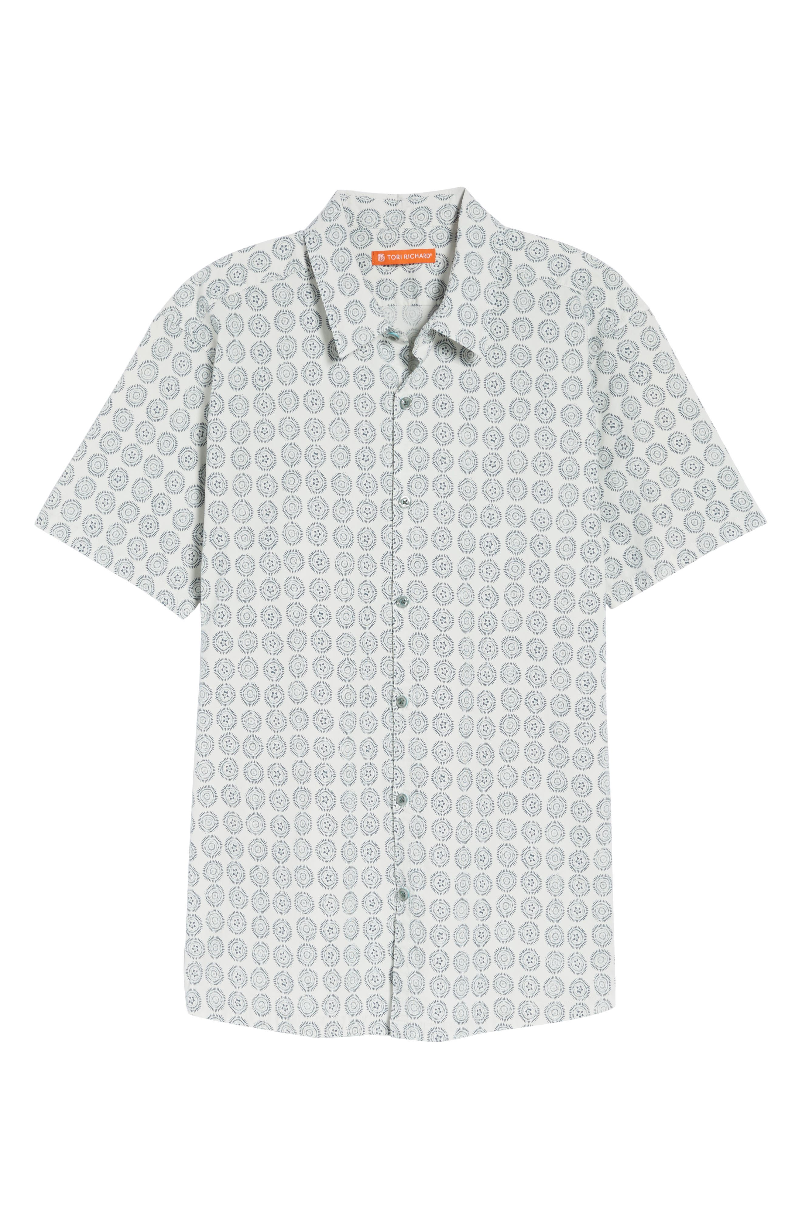 Sea Crest Slim Fit Print Camp Shirt,                             Alternate thumbnail 12, color,