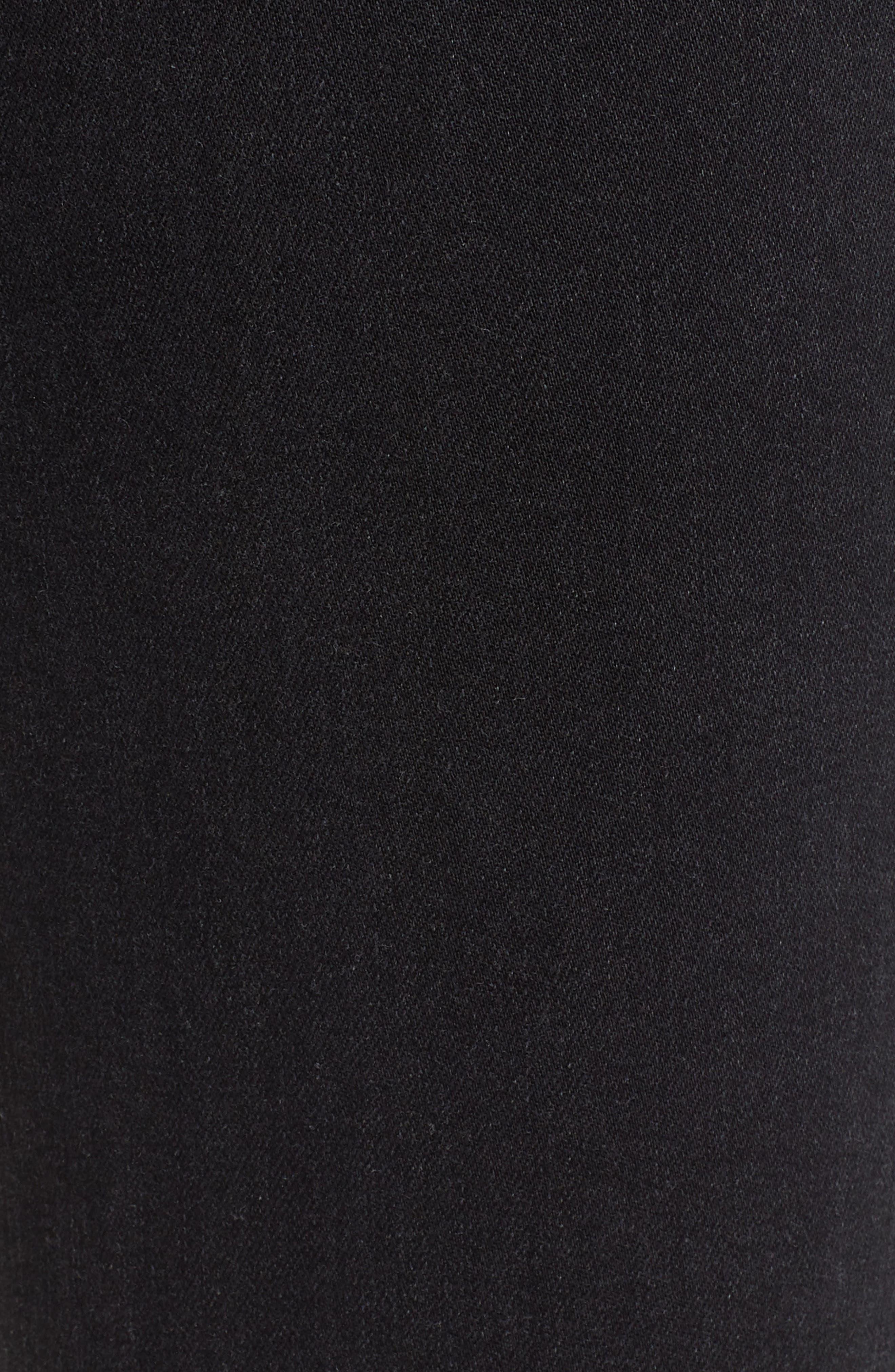 Hoxton Utilitarian High Waist Ankle Skinny Jeans,                             Alternate thumbnail 6, color,                             BLACK FOG RAW HEM