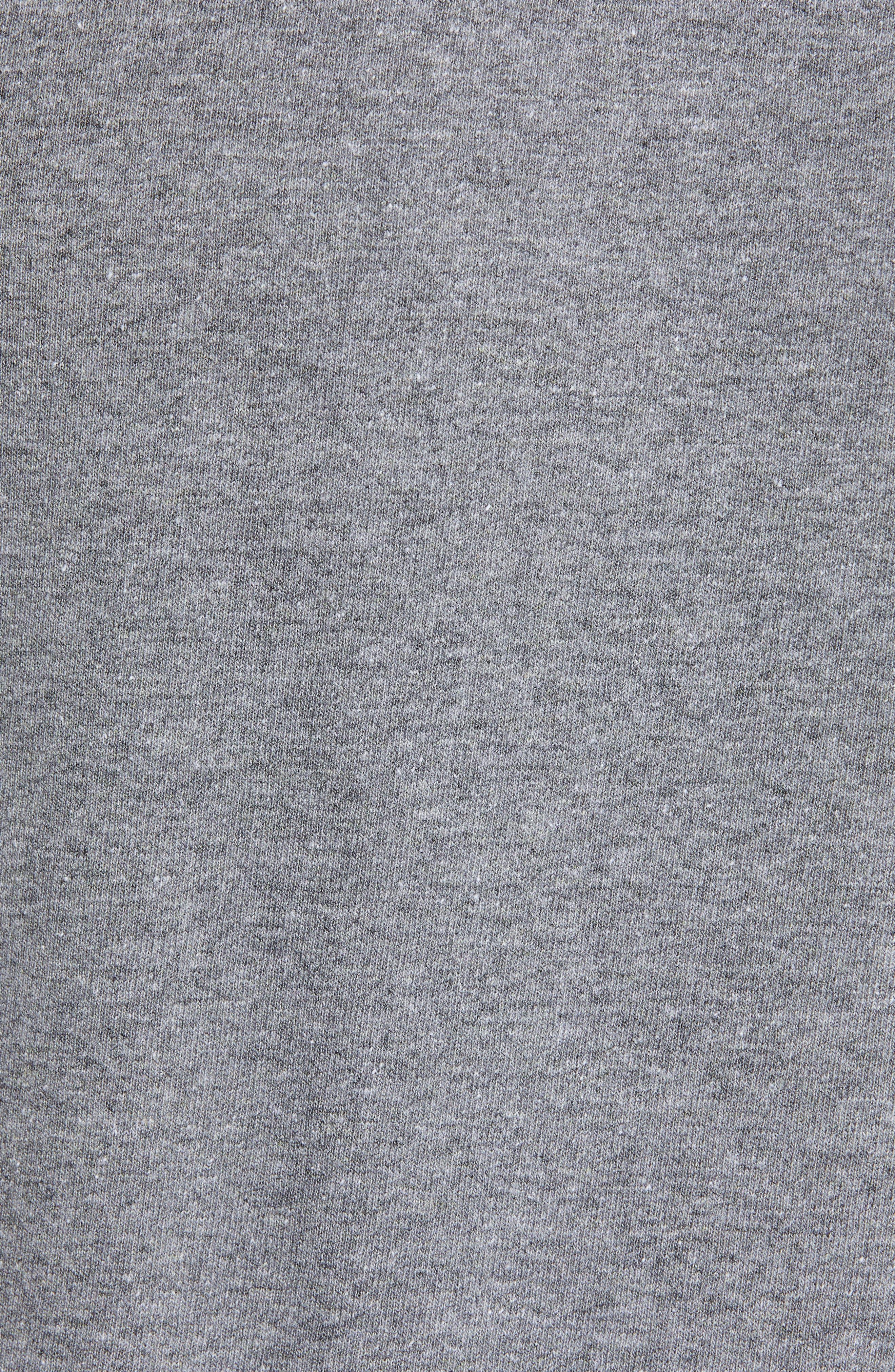 PATAGONIA,                             Fitz Roy Trout Crewneck T-Shirt,                             Alternate thumbnail 5, color,                             GRAVEL HEATHER
