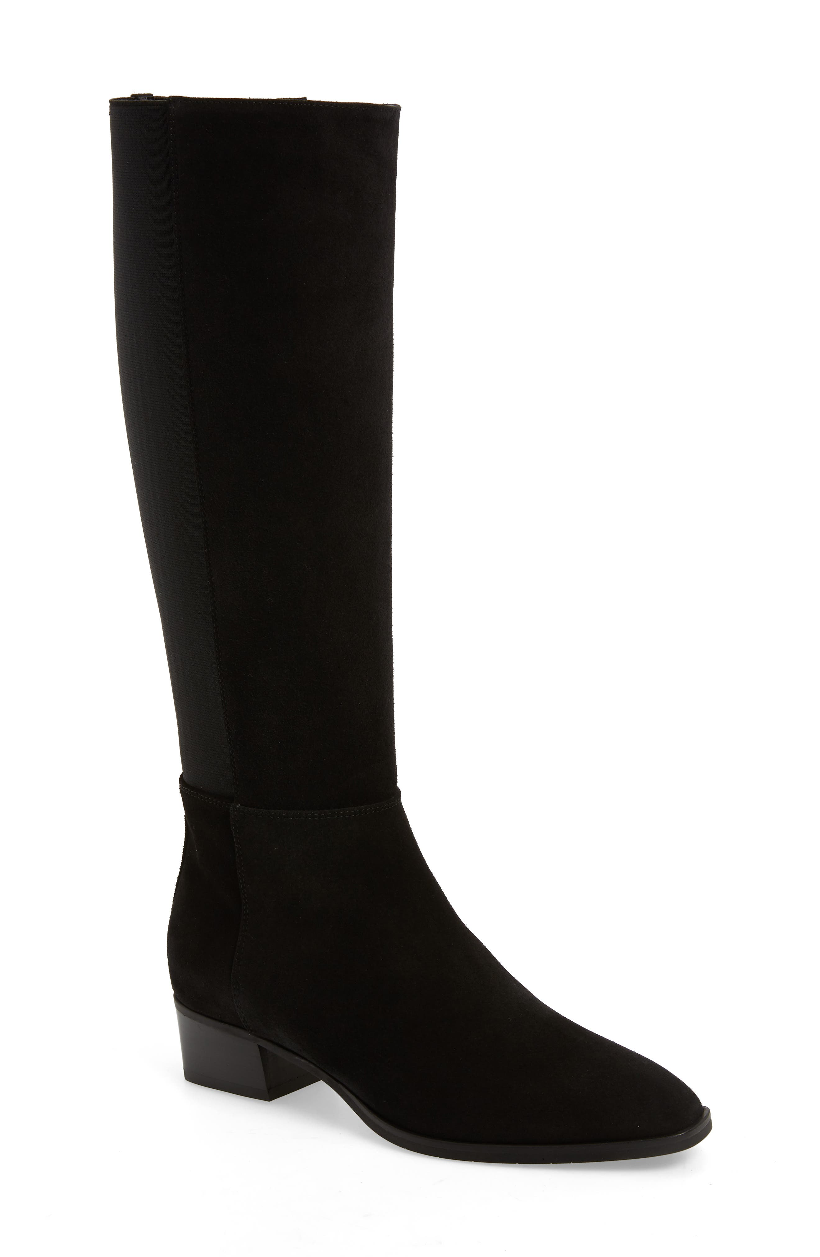 AQUATALIA Women'S Finola Weatherproof Block-Heel Riding Boots in Black