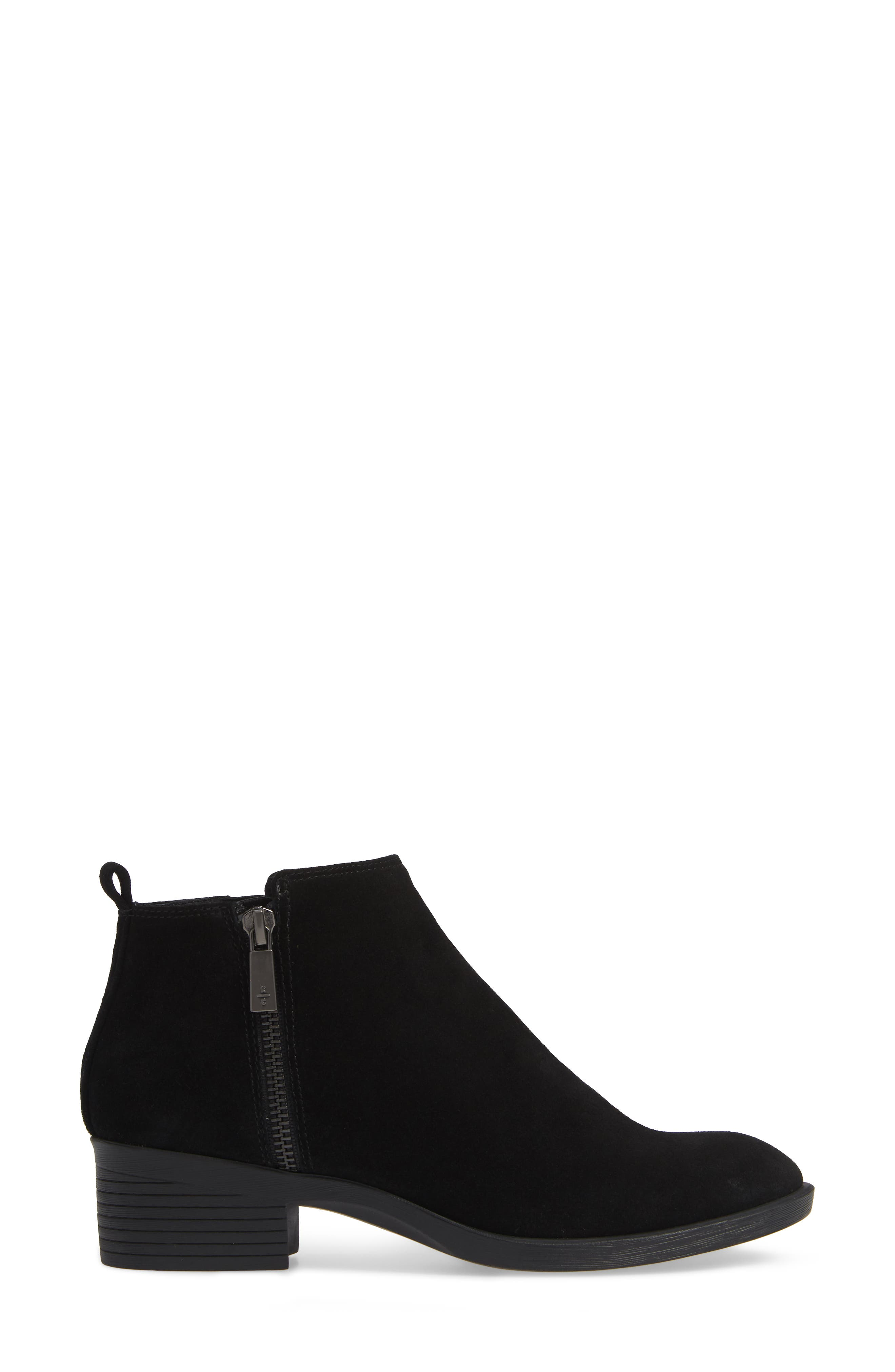 'Levon' Bootie,                             Alternate thumbnail 3, color,                             BLACK SUEDE