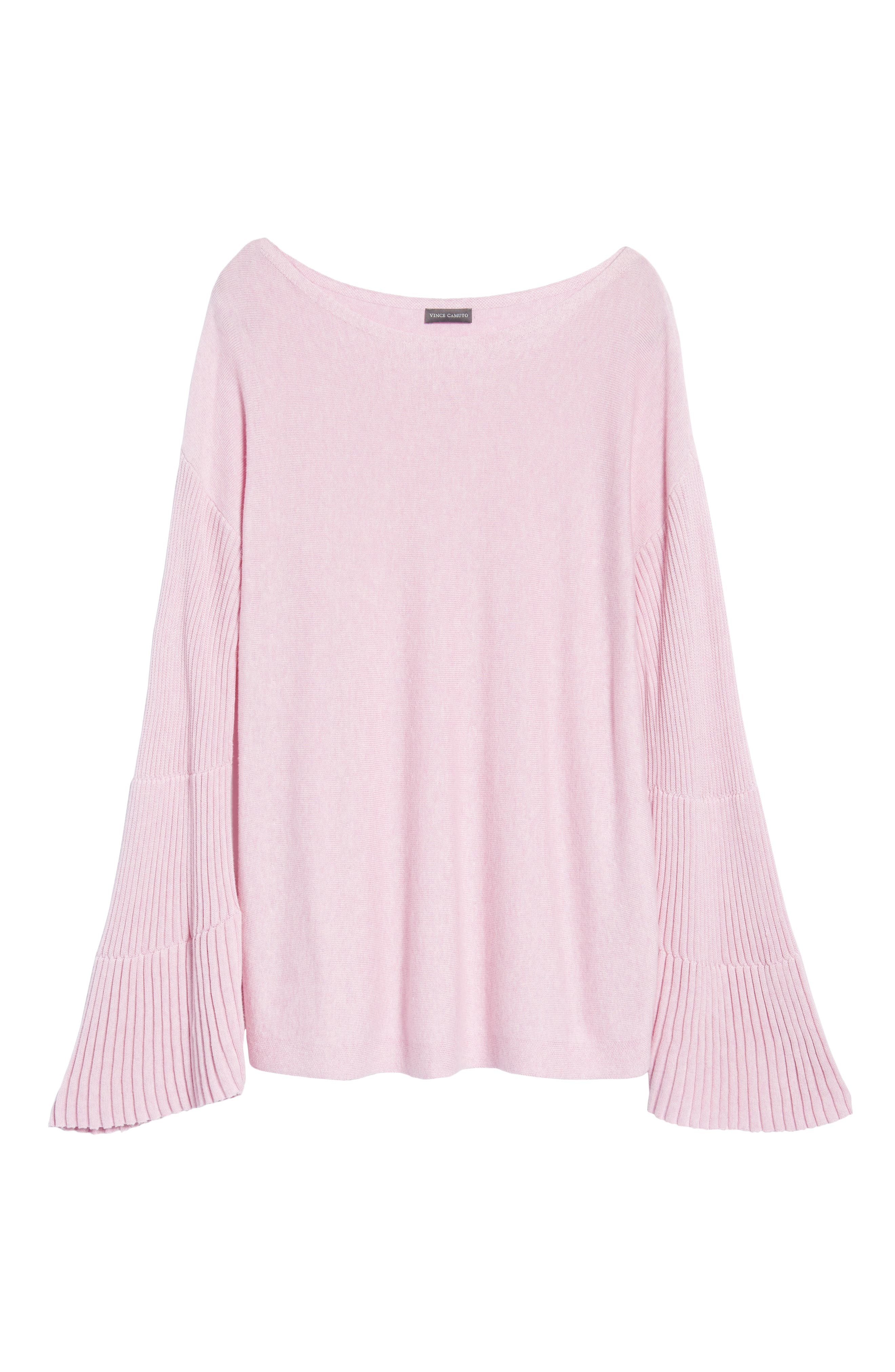 Bell Sleeve Ribbed Sweater,                             Alternate thumbnail 35, color,