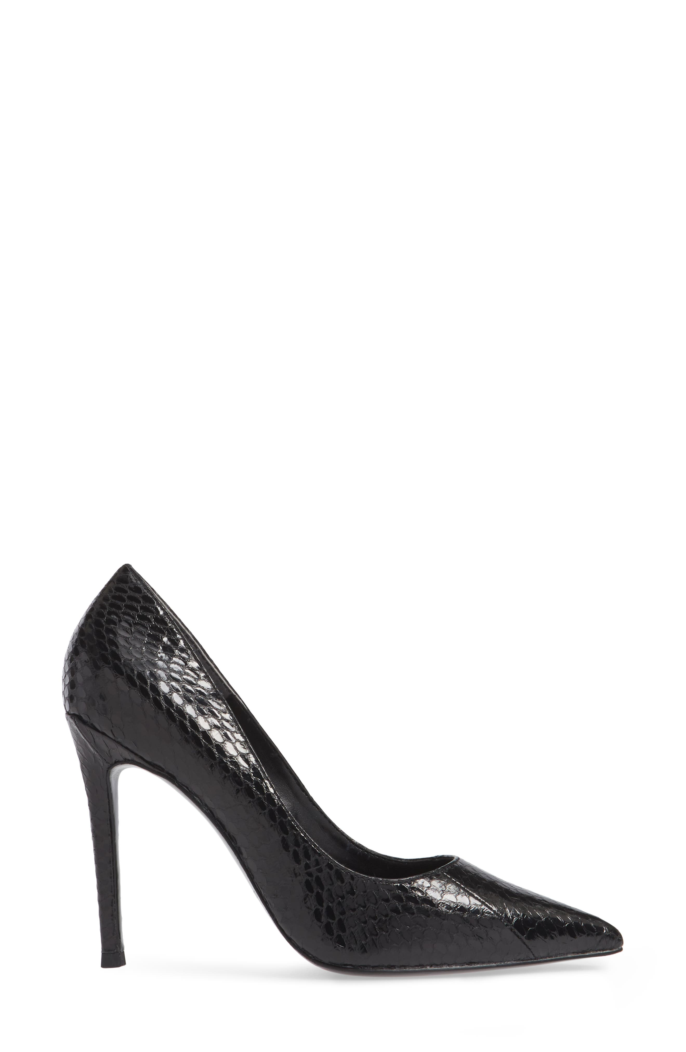 Calessi Pointy Toe Pump,                             Alternate thumbnail 3, color,                             BLACK SNAKE PRINT LEATHER