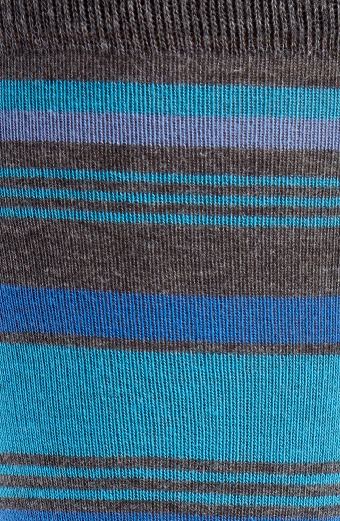 Mixed Uneven Stripe Socks,                             Alternate thumbnail 2, color,                             BLUE/ CHARCOAL