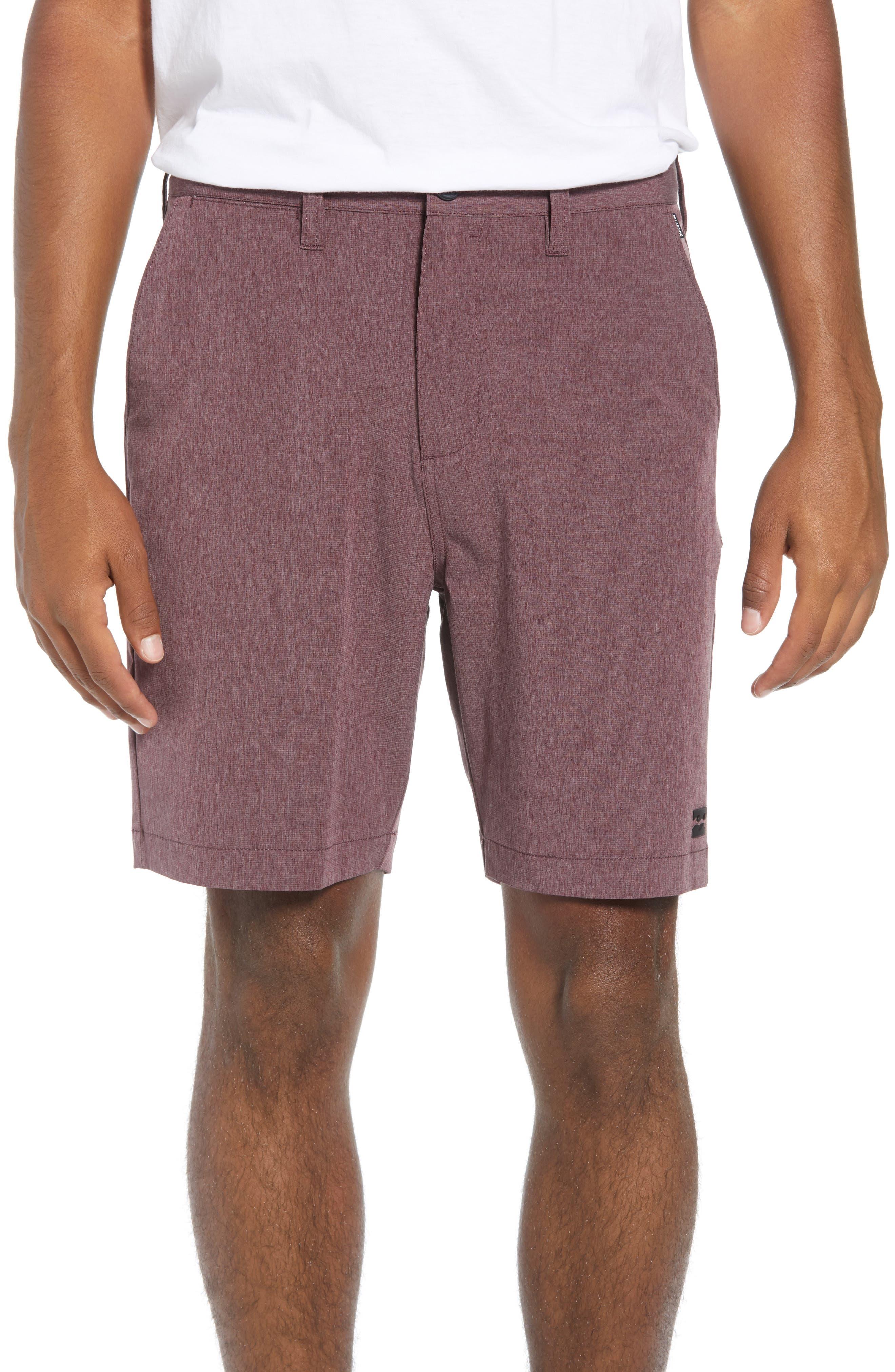 Billabong Crossfire X Mid-Length Shorts, Burgundy