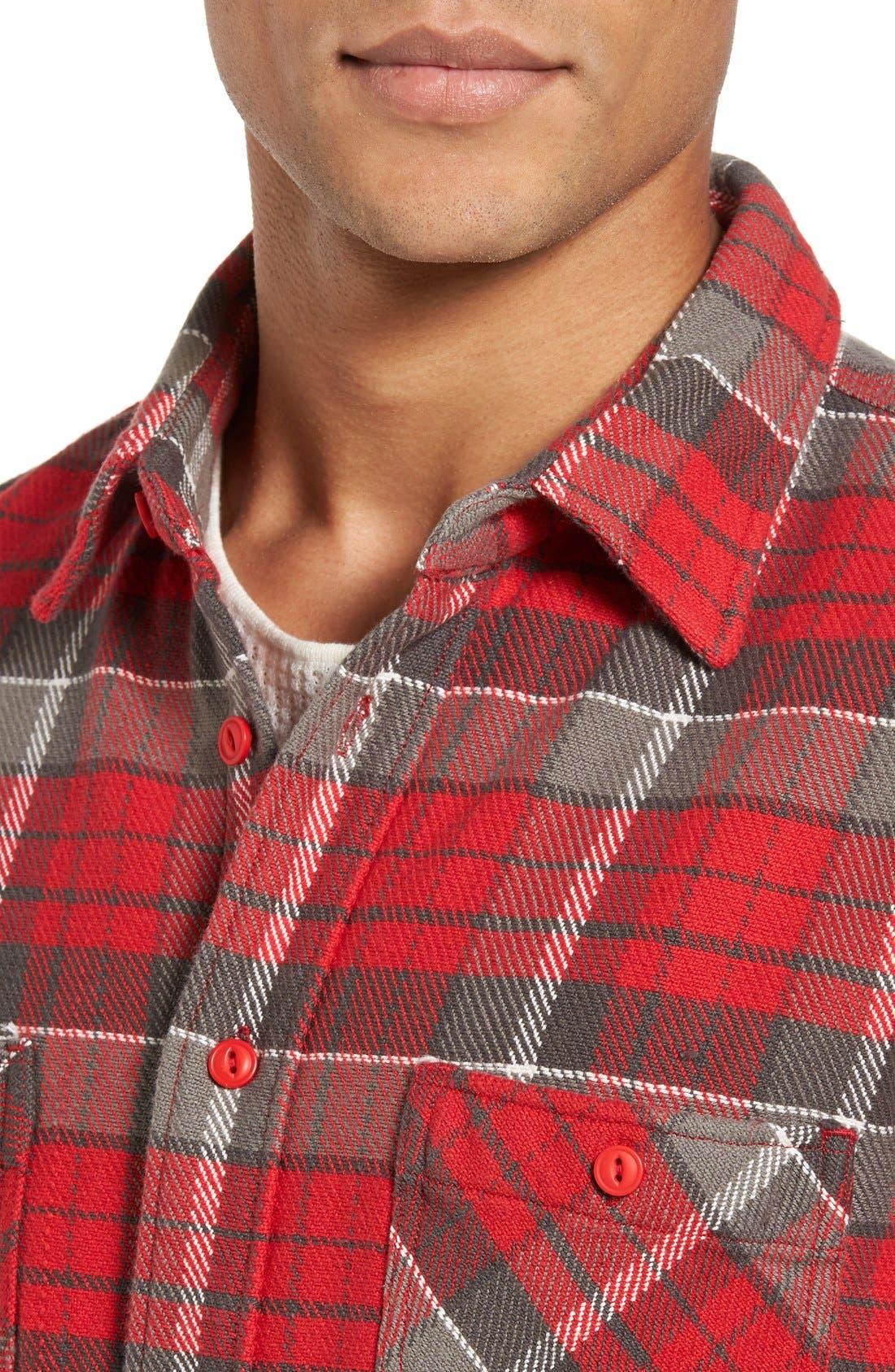 Classic Fit Plaid Flannel Shirt,                             Alternate thumbnail 27, color,