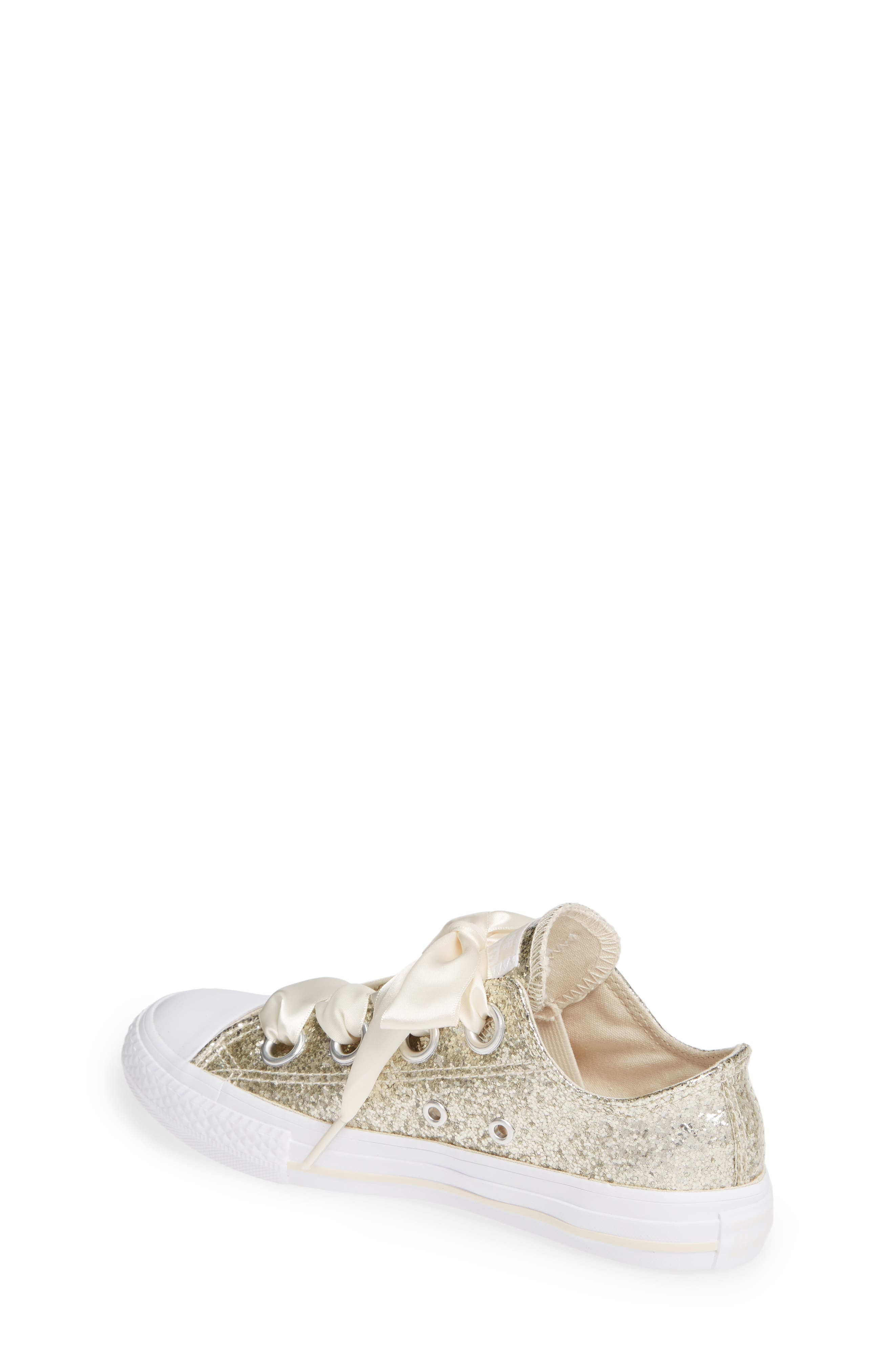 Chuck Taylor<sup>®</sup> All Star<sup>®</sup> Glitter Big Eyelet Ox Sneaker,                             Alternate thumbnail 2, color,                             NATURAL IVORY
