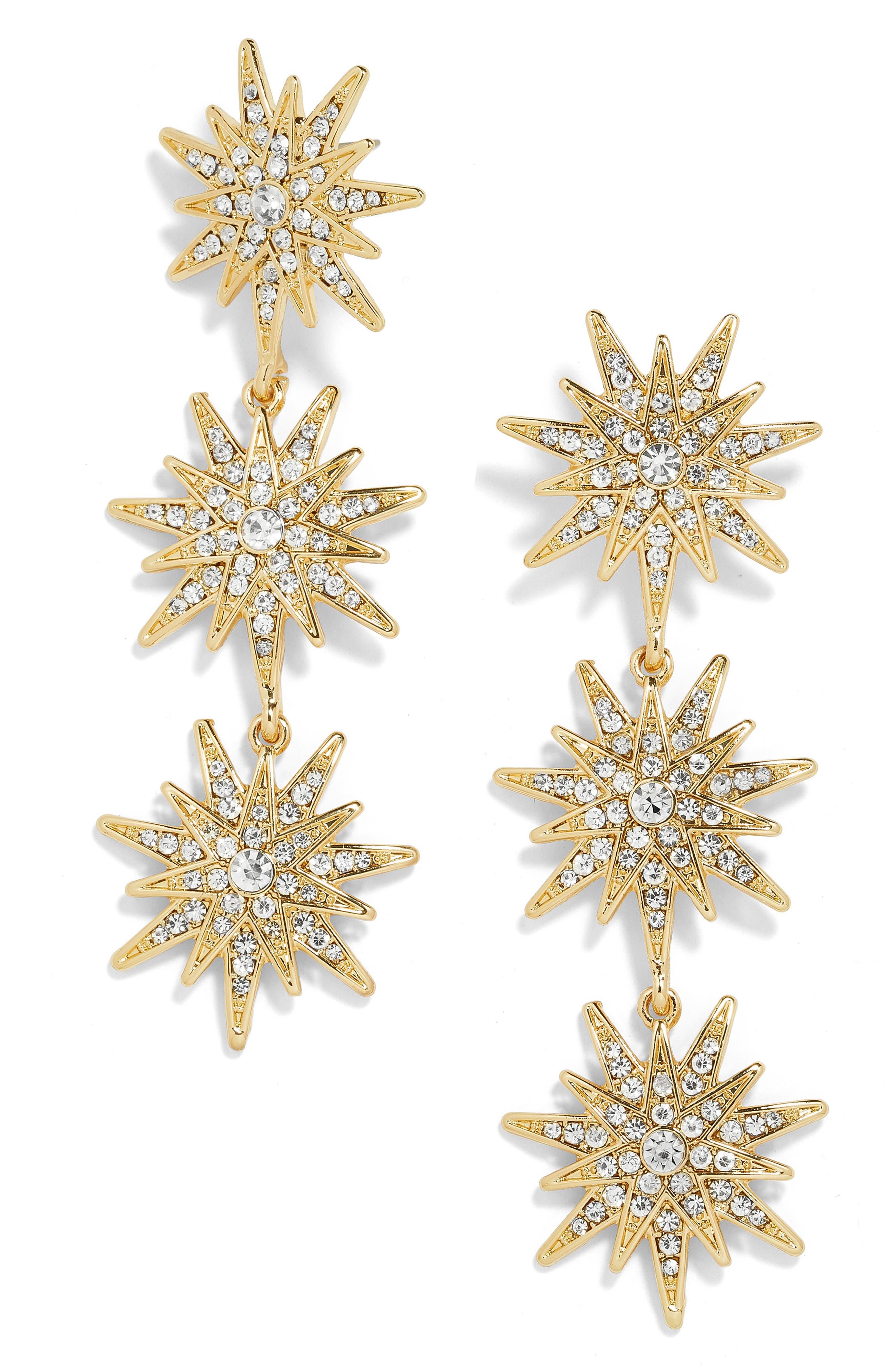 BAUBLEBAR,                             Star Drop Earrings,                             Main thumbnail 1, color,                             GOLD