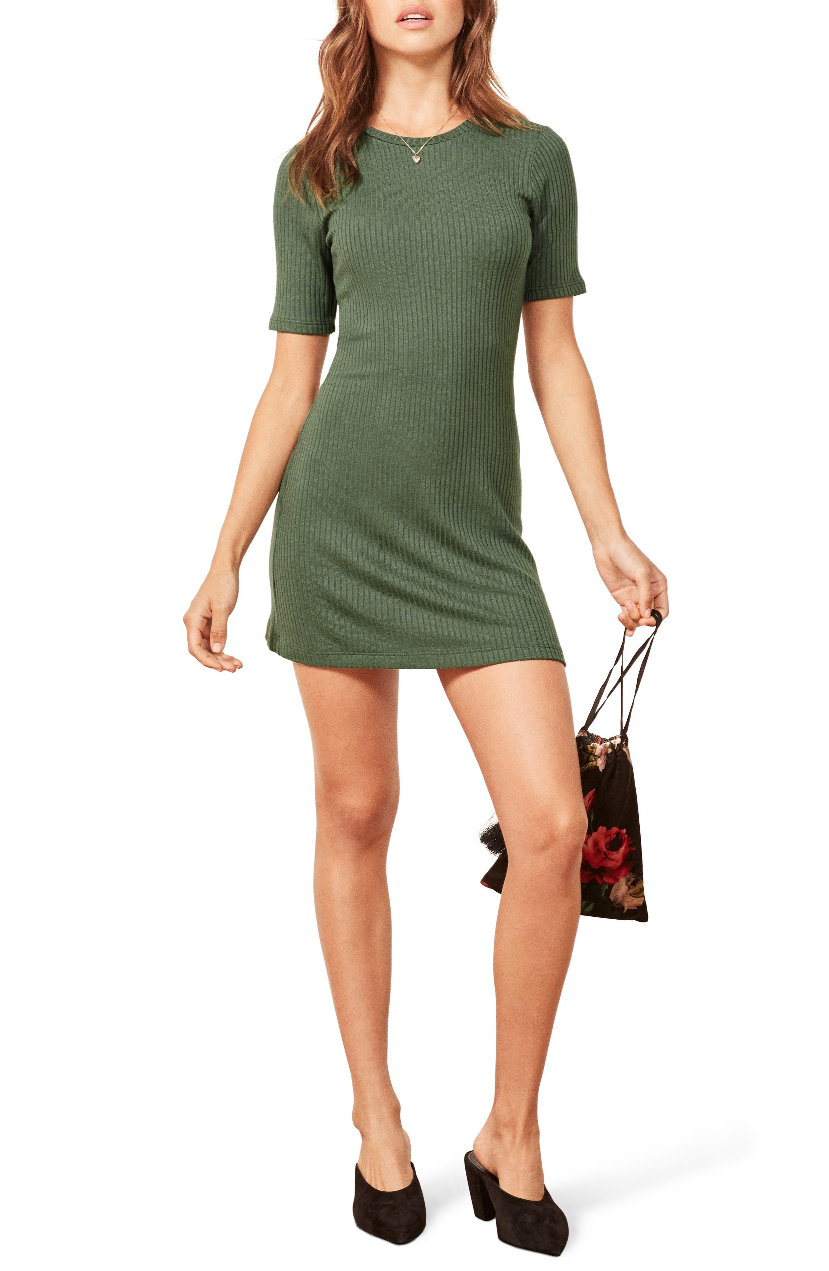 REFORMATION Gigi Dress, Main, color, SAGE