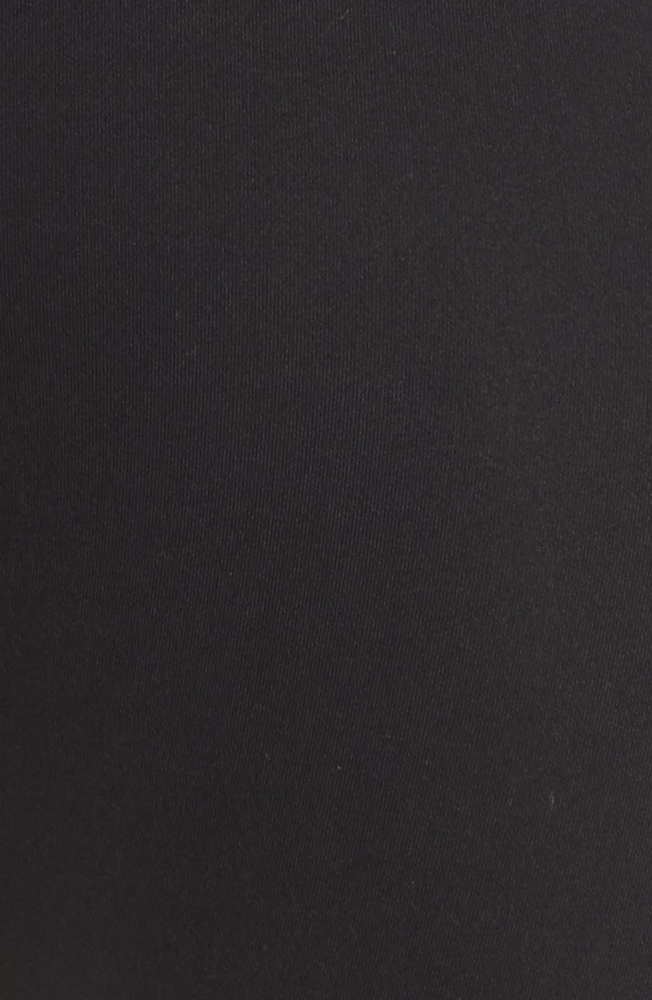 Evie Capri Leggings,                             Alternate thumbnail 6, color,                             BLACK