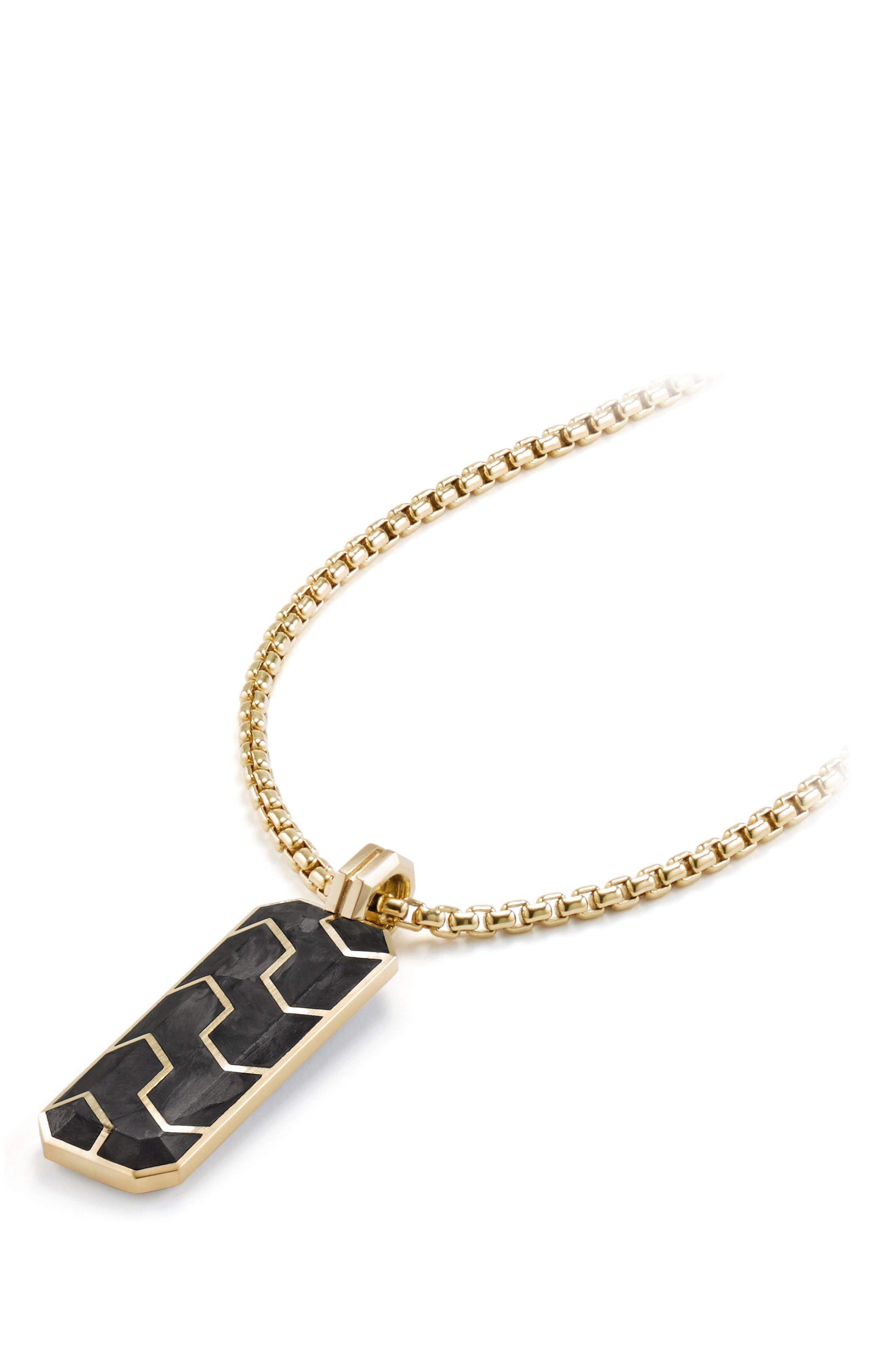 Davdi Yurman Forged Carbon Ingot Tag with 18K Gold,                             Alternate thumbnail 2, color,                             020
