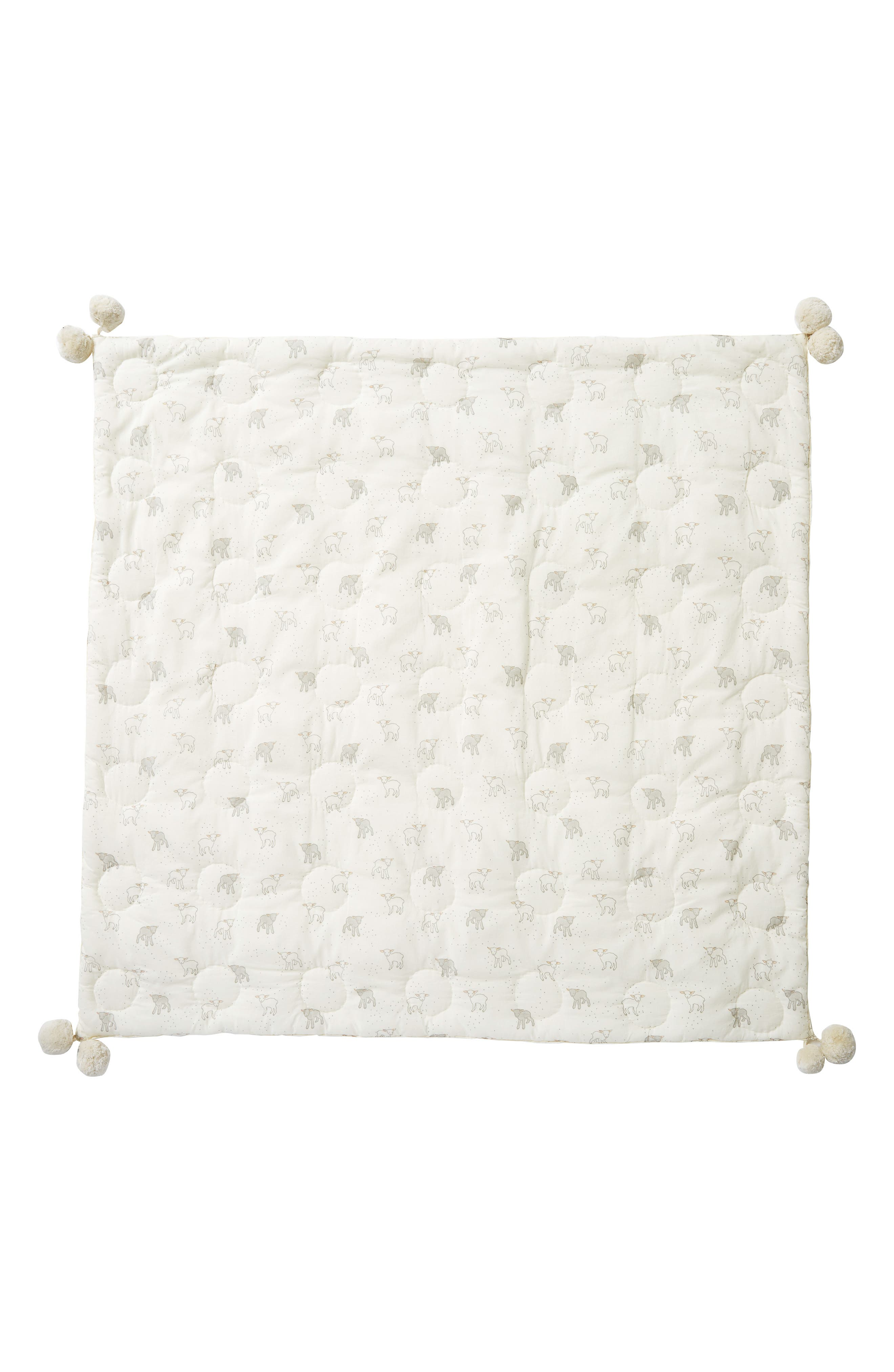 Little Lamb Baby Blanket,                             Alternate thumbnail 3, color,                             907
