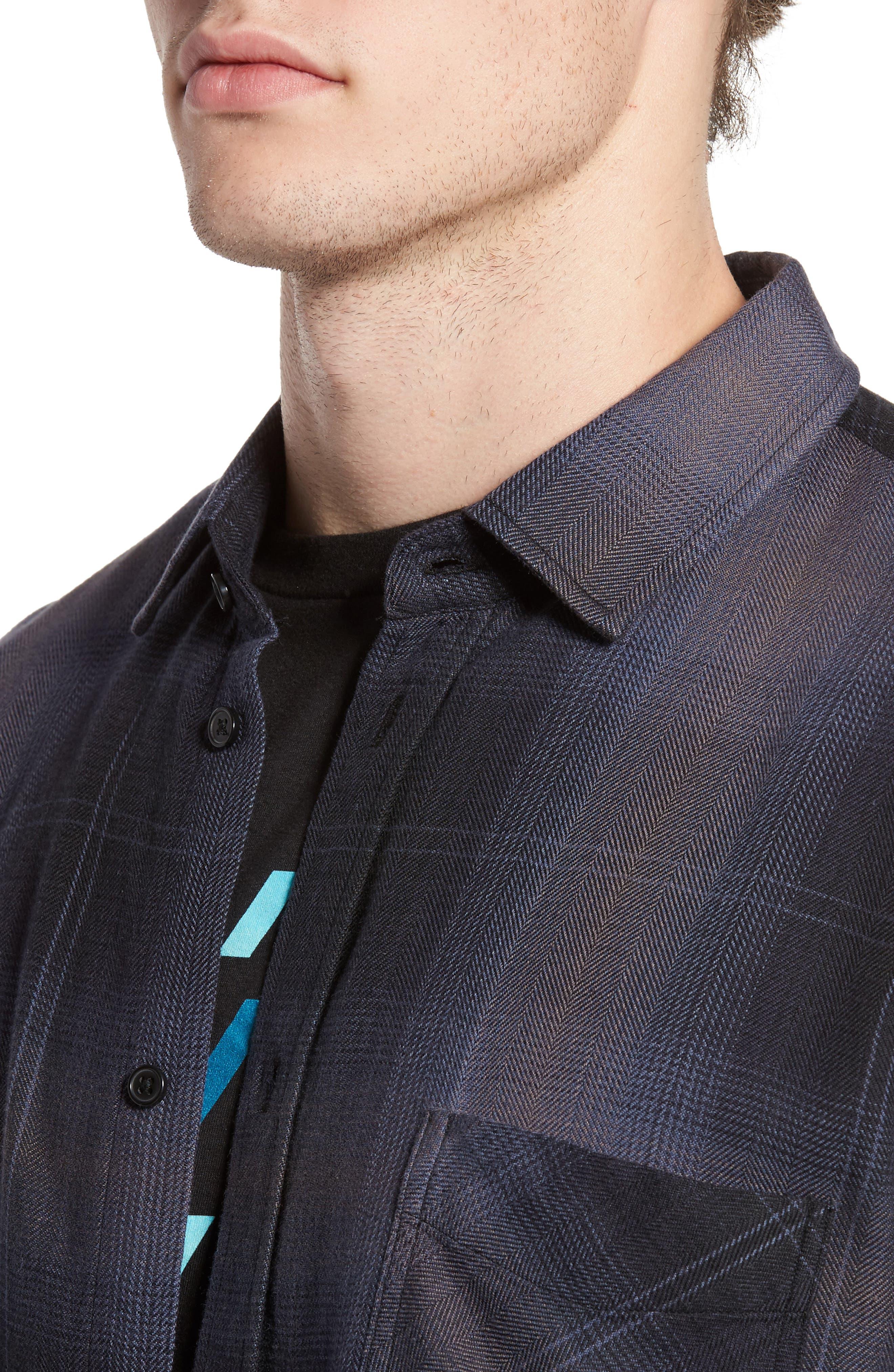 Lennox Sport Shirt,                             Alternate thumbnail 4, color,                             CHARCOAL/ BLACK