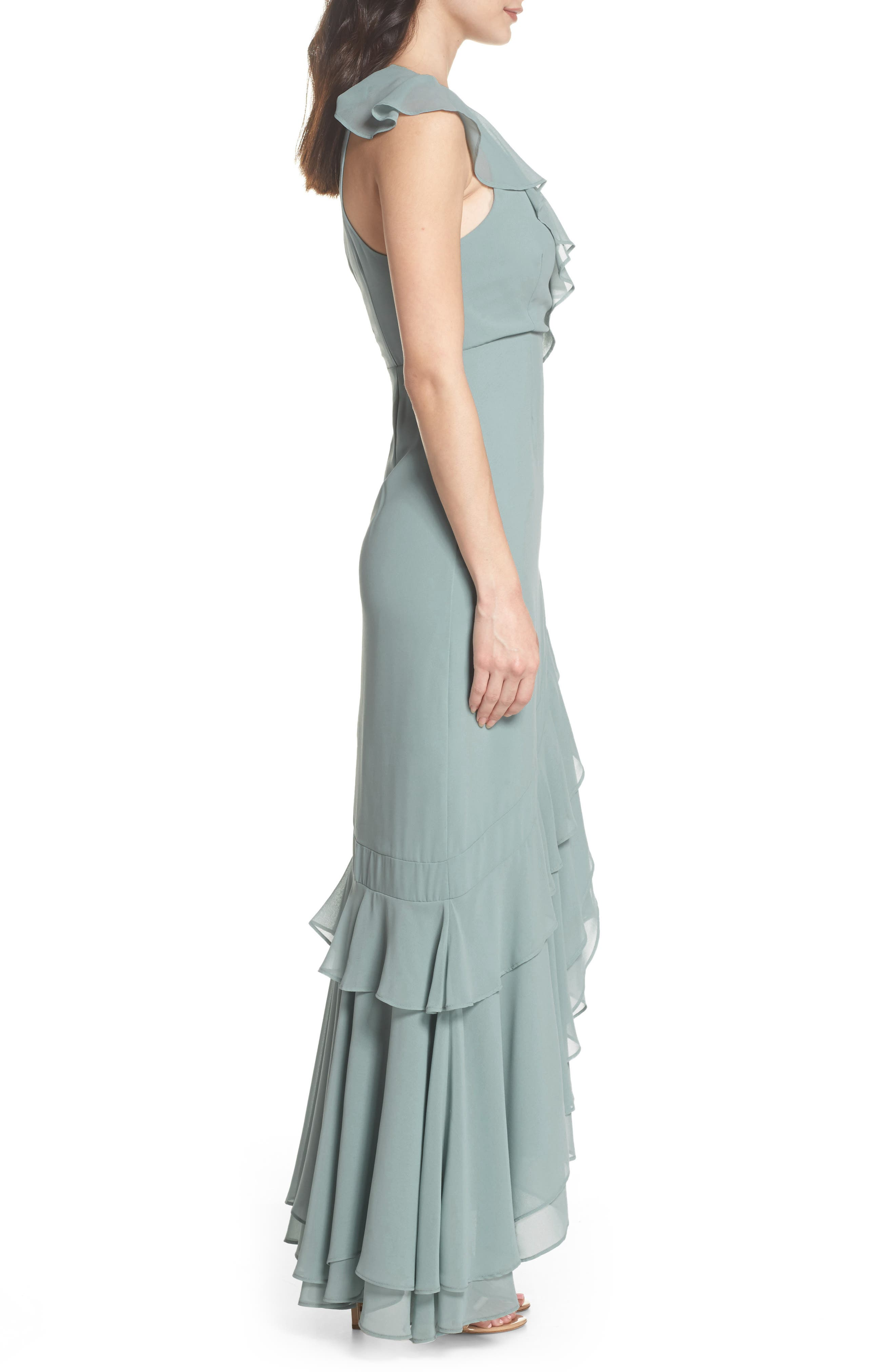 C/MEO Be About You Ruffle Gown,                             Alternate thumbnail 3, color,                             330