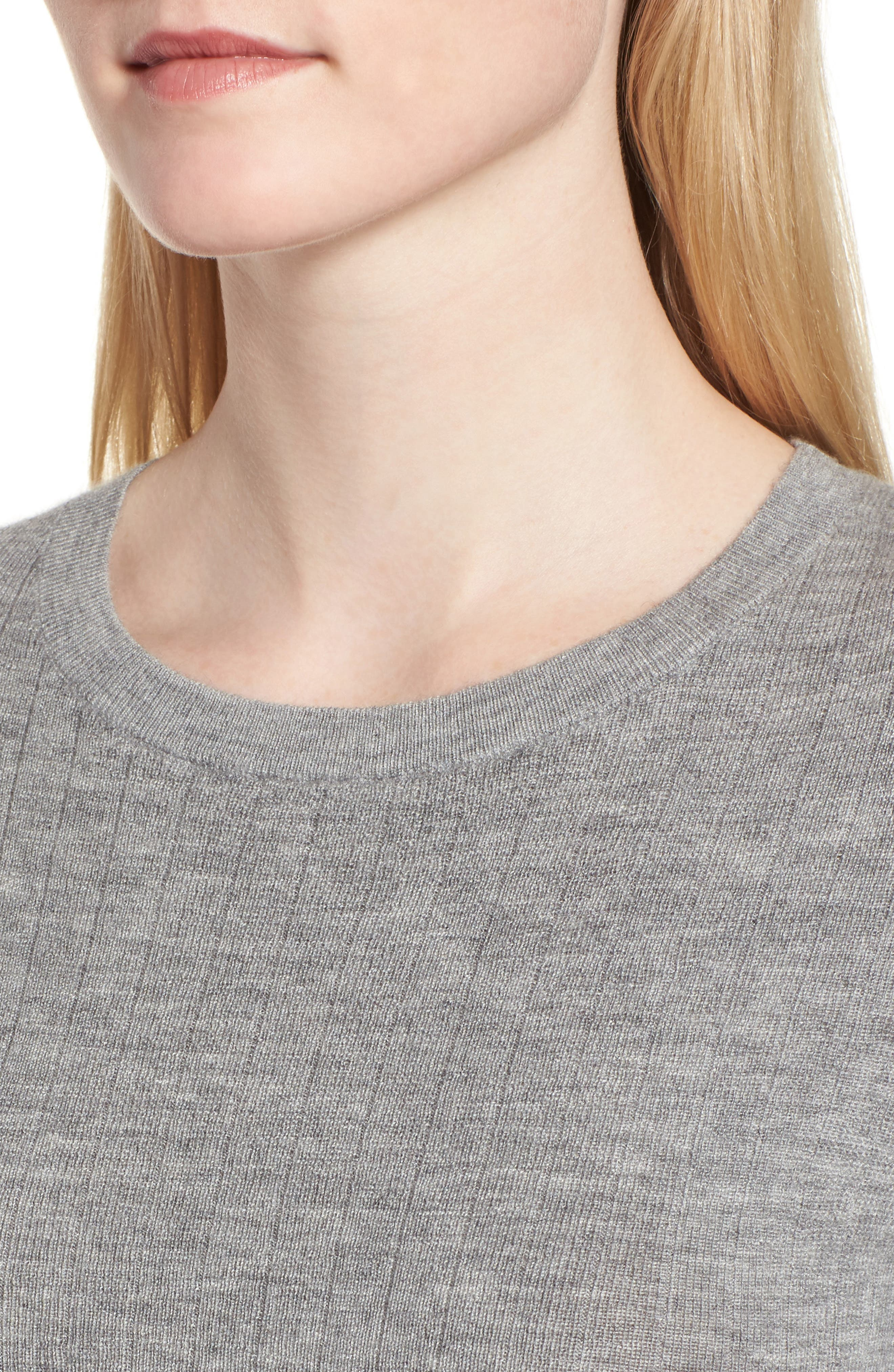 Ribbed Cashmere Sweater,                             Alternate thumbnail 4, color,                             030