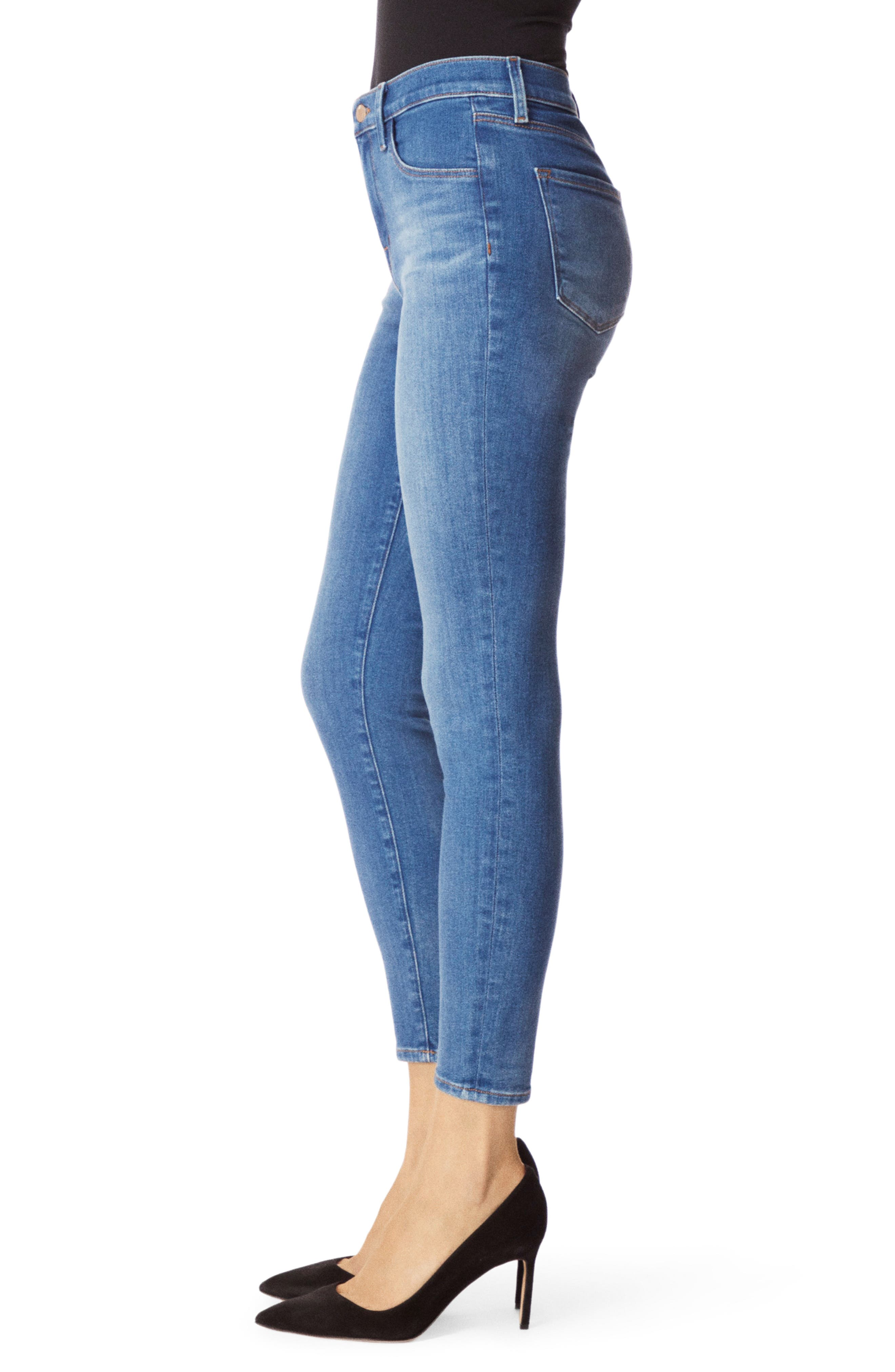 Alana High Waist Crop Skinny Jeans,                             Alternate thumbnail 3, color,                             RADIATE