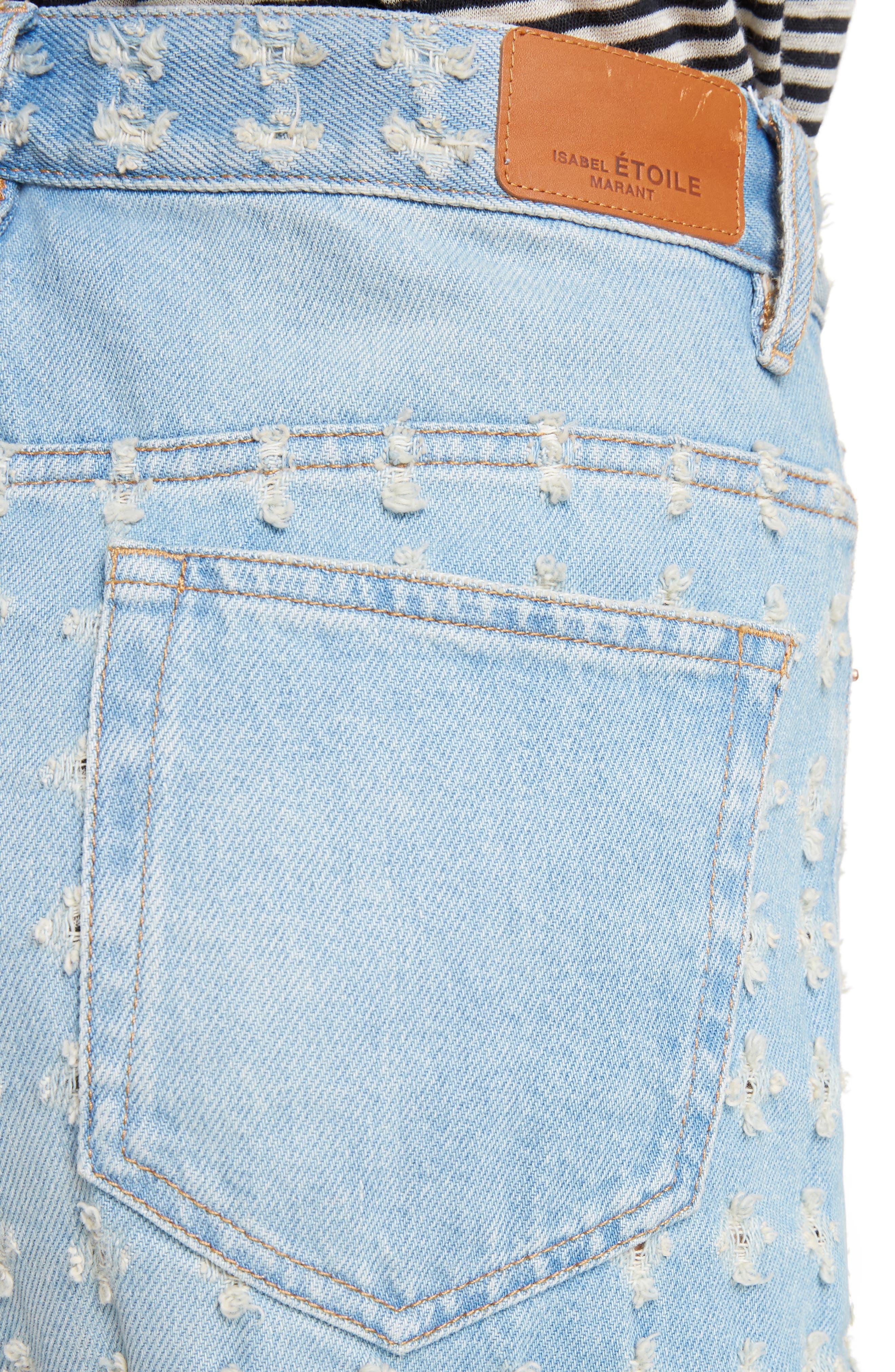 Isabel Marant Étoile Cory Cuffed Jeans,                             Alternate thumbnail 4, color,                             400