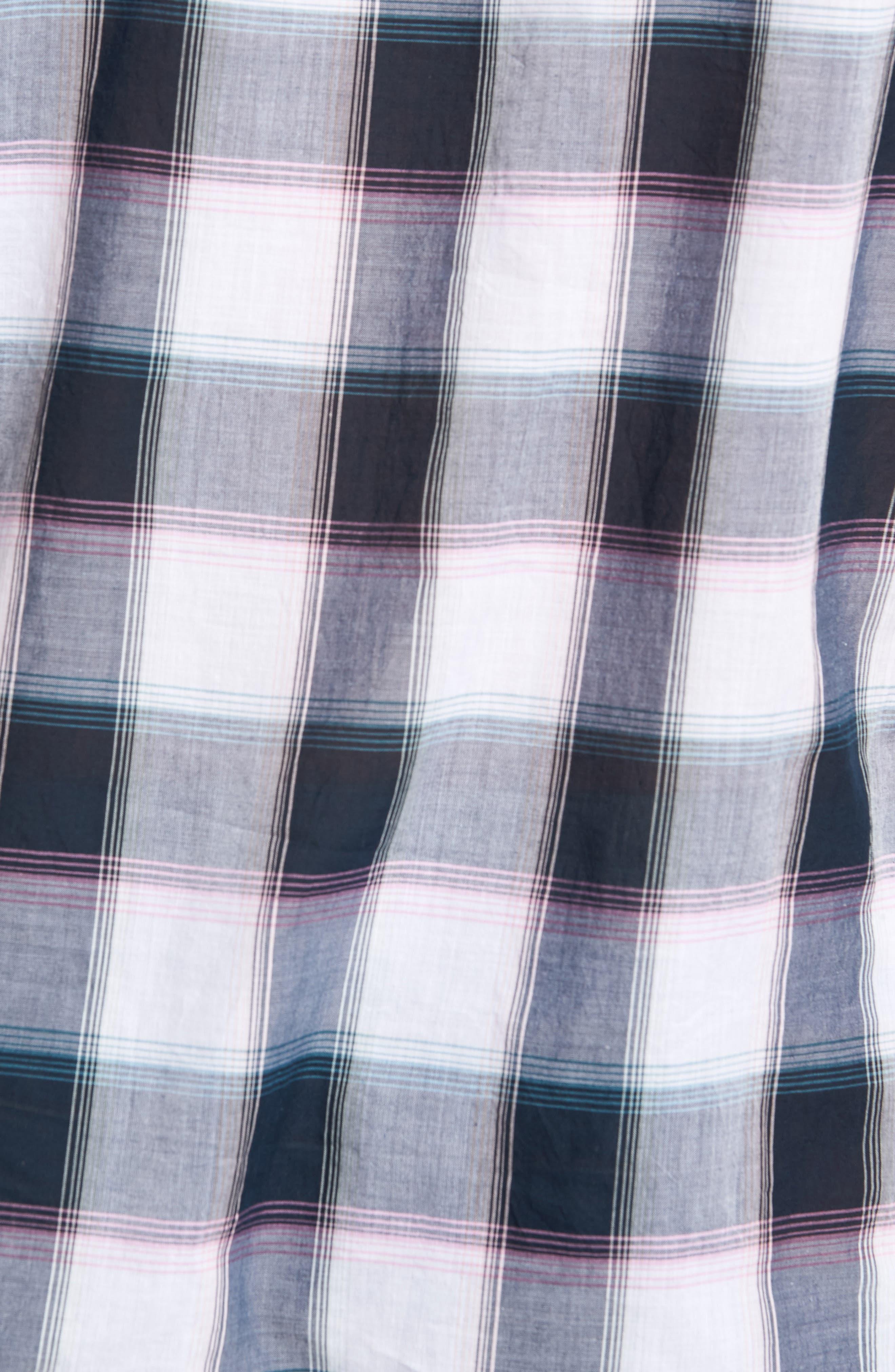 Plaid Cotton Lawn Shirt,                             Alternate thumbnail 5, color,                             023