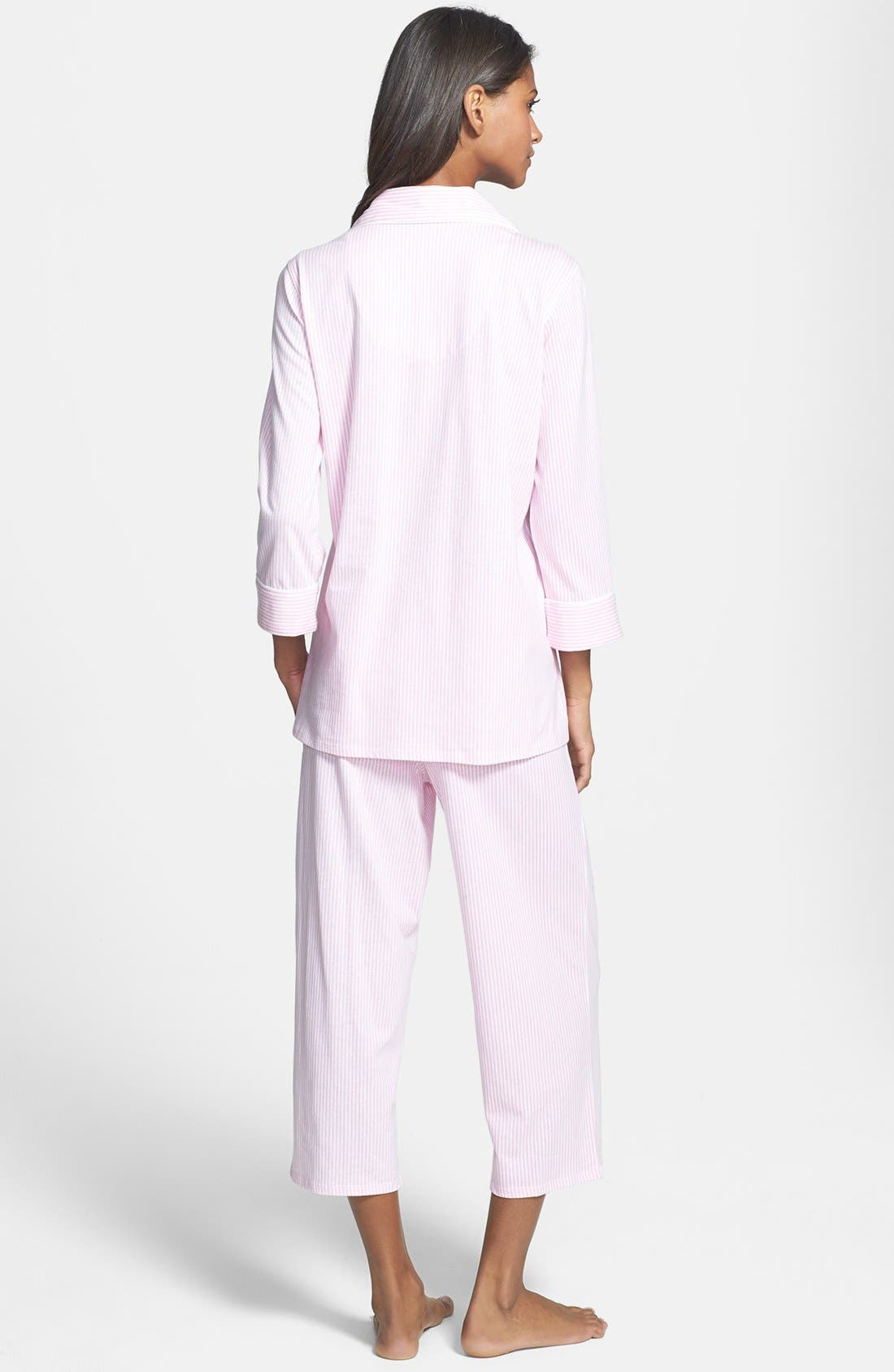 Knit Crop Pajamas,                             Alternate thumbnail 37, color,