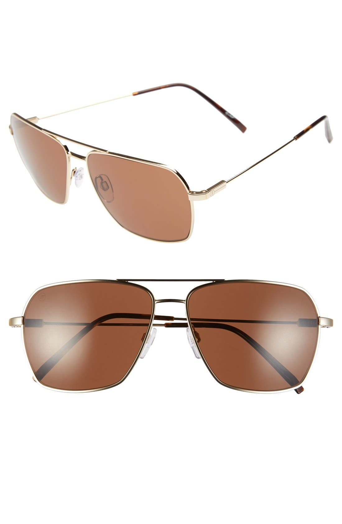 'AV2' 59mm Sunglasses,                         Main,                         color, GOLD/ BRONZE