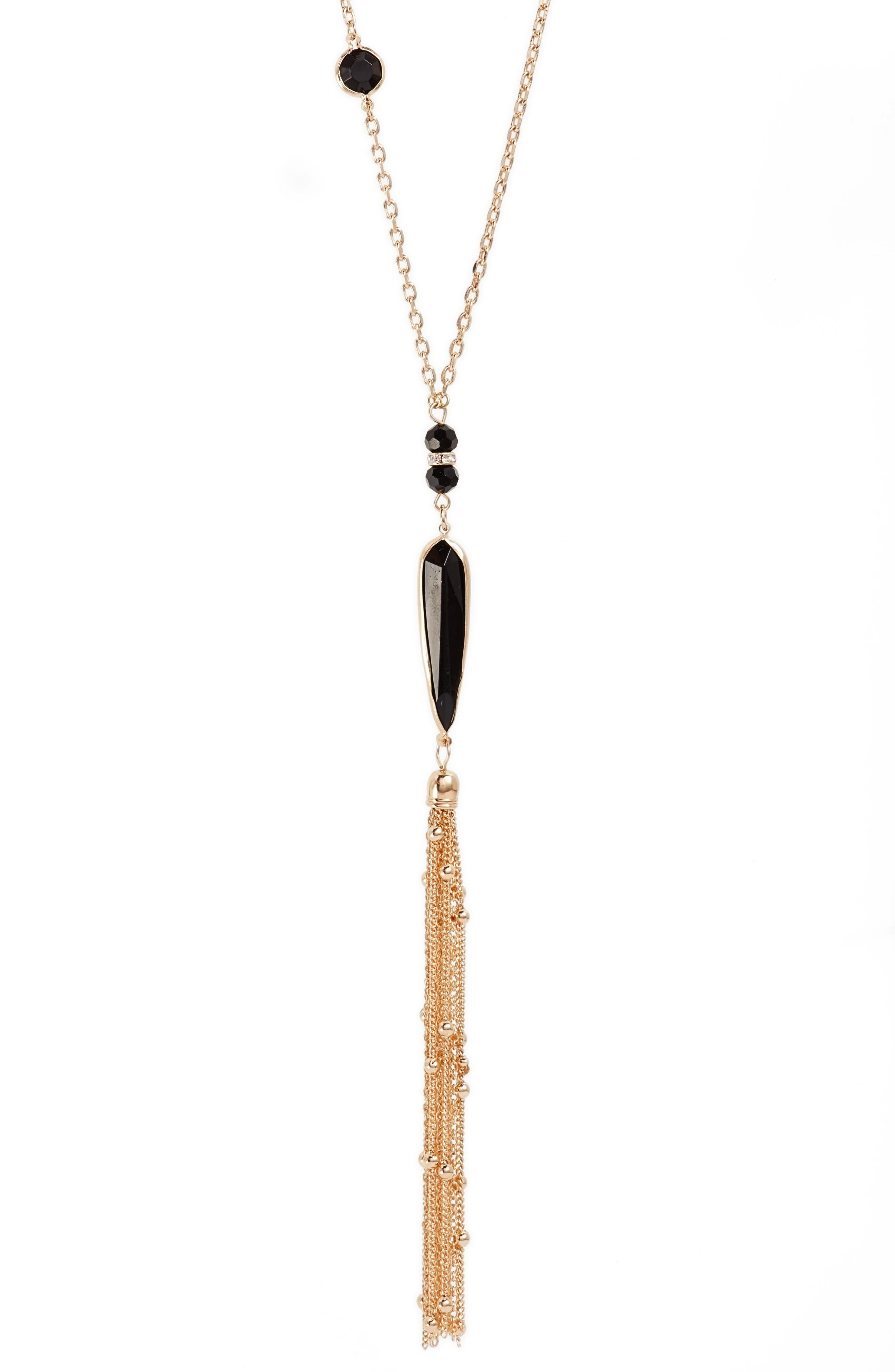 Tassel Pendant Necklace,                             Alternate thumbnail 2, color,                             001