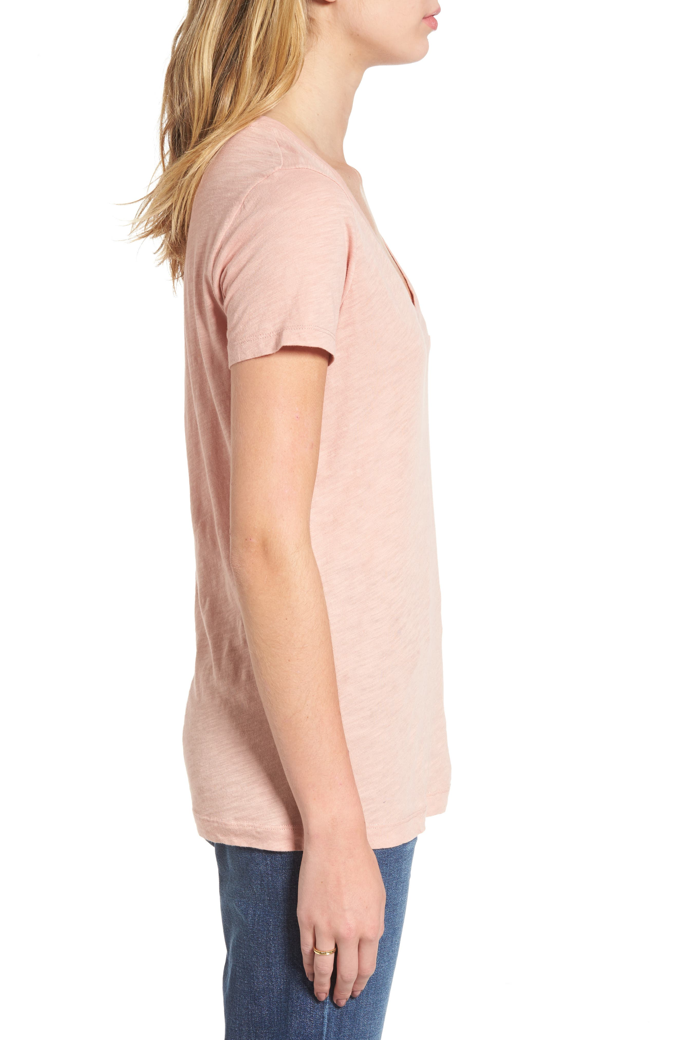 Whisper Cotton V-Neck Pocket Tee,                             Alternate thumbnail 133, color,