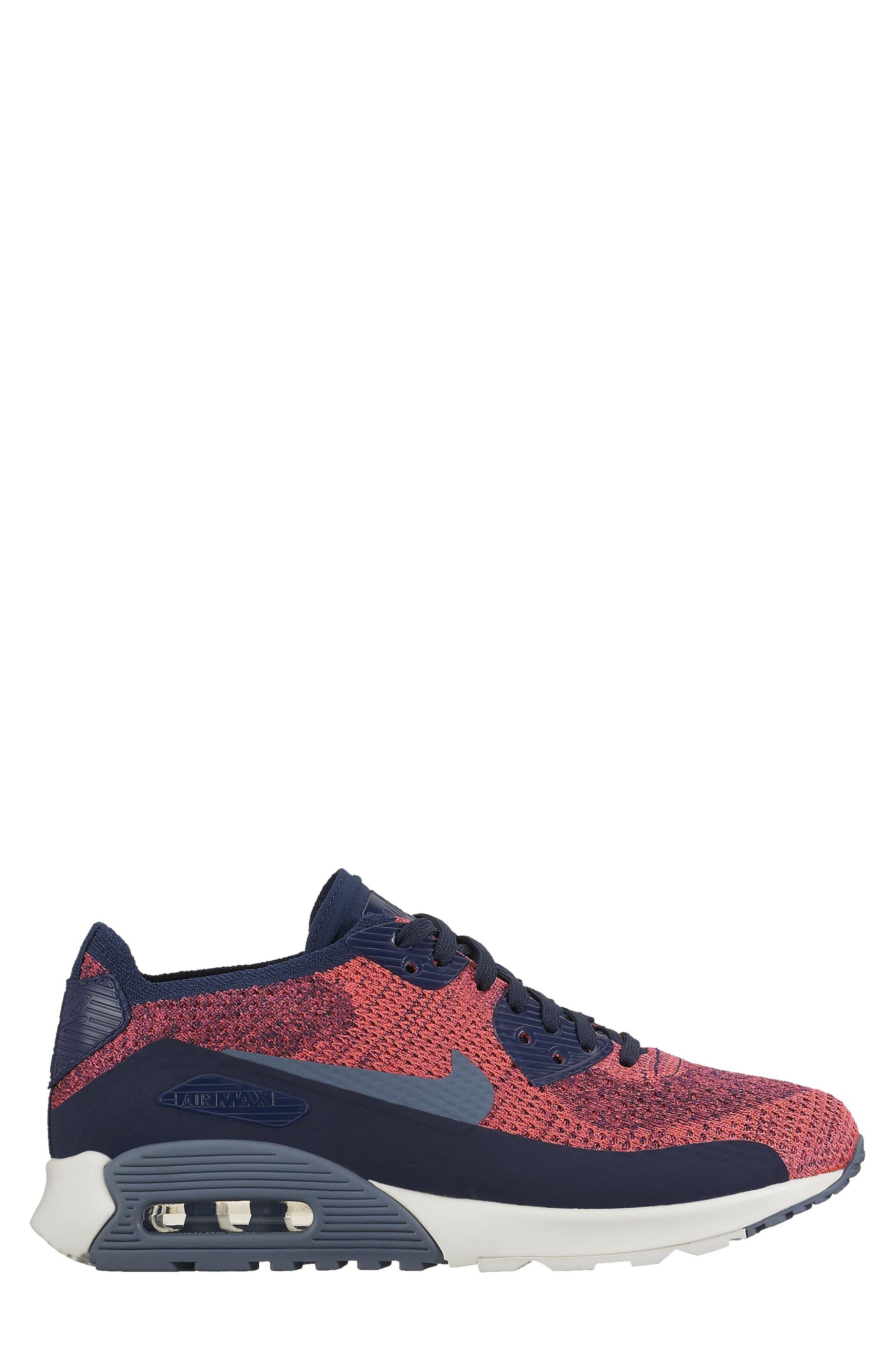 Air Max 90 Flyknit Ultra 2.0 Sneaker,                             Alternate thumbnail 9, color,