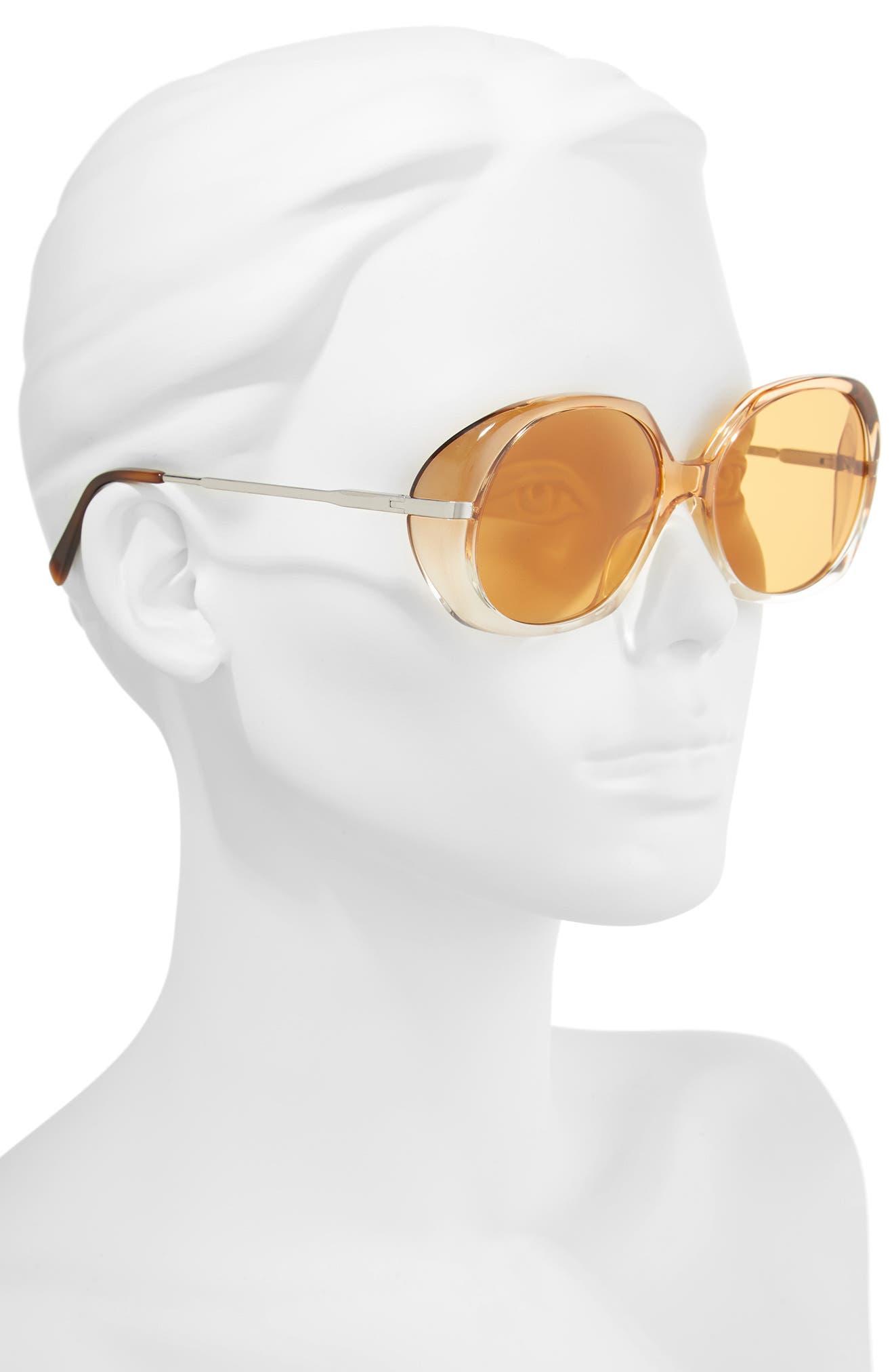 56mm Round Sunglasses,                             Alternate thumbnail 2, color,                             200