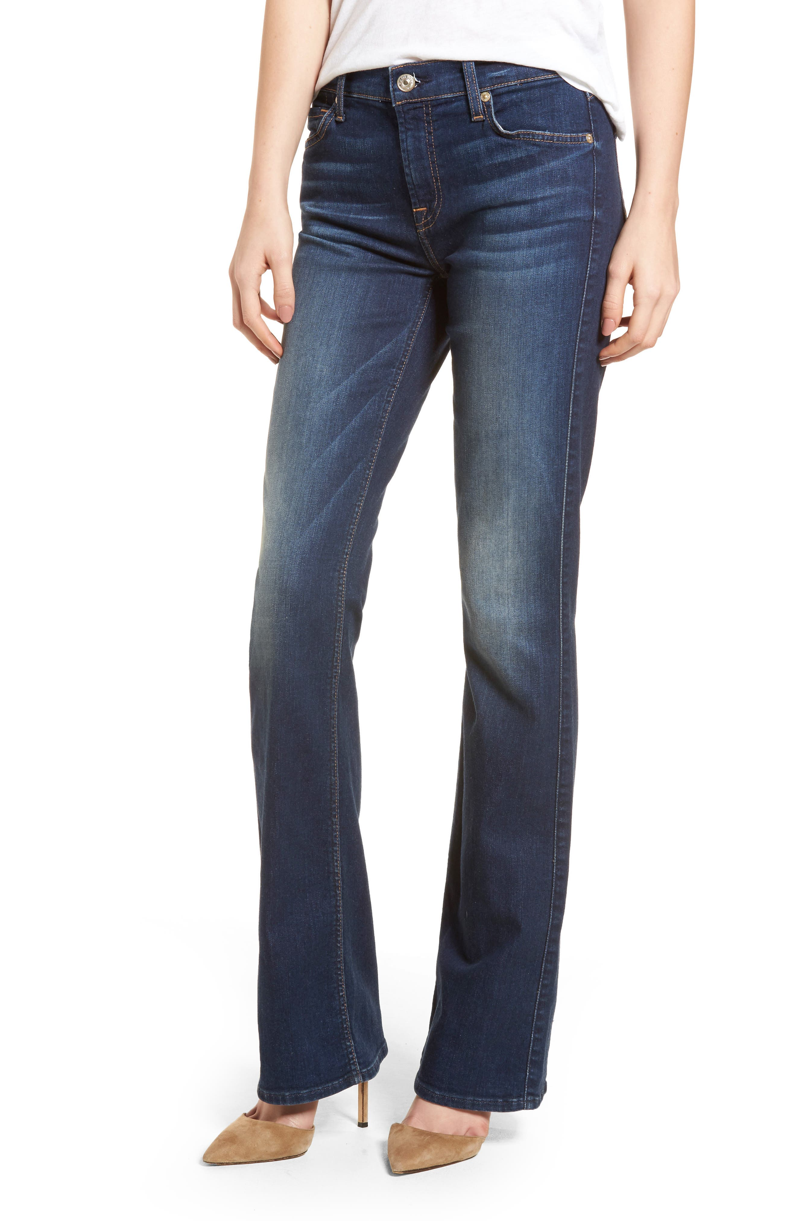b(air) Iconic Bootcut Jeans,                         Main,                         color, MORENO