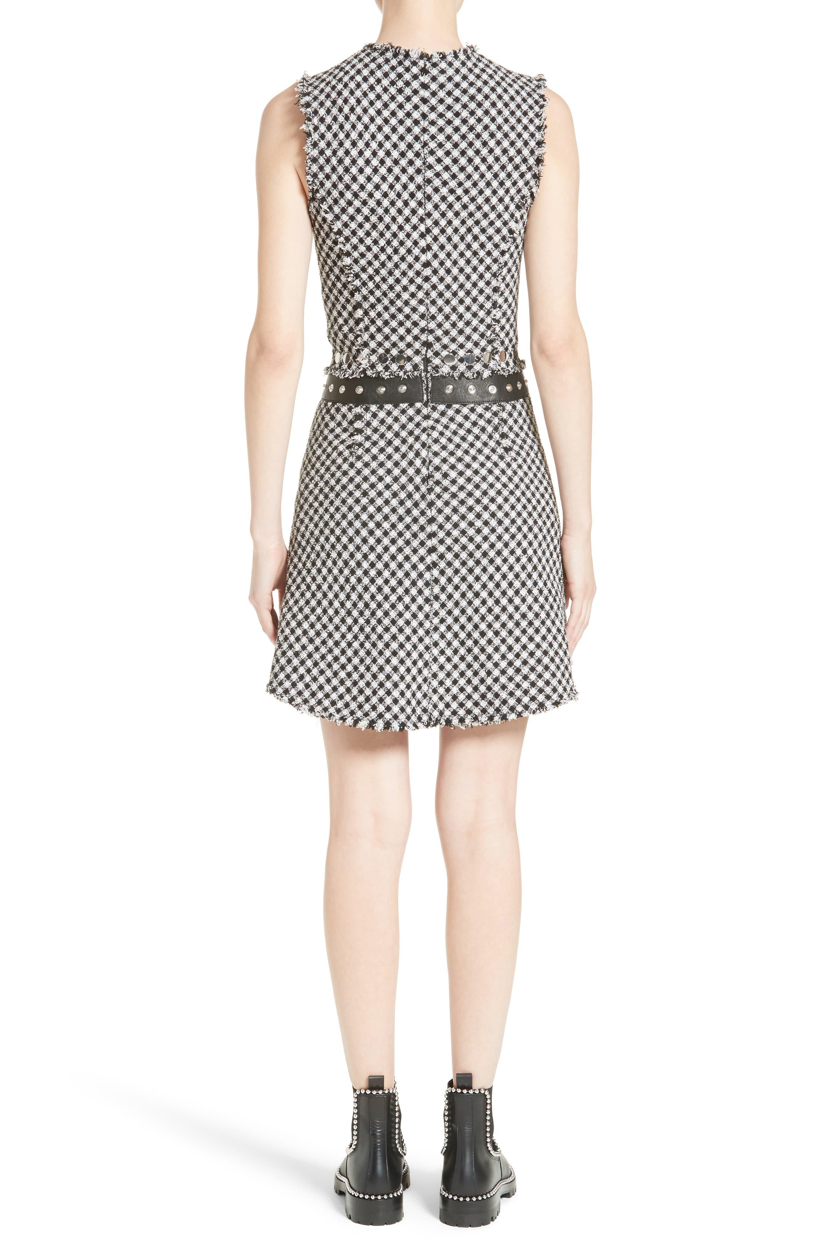 Check Tweed Dress,                             Alternate thumbnail 2, color,                             001