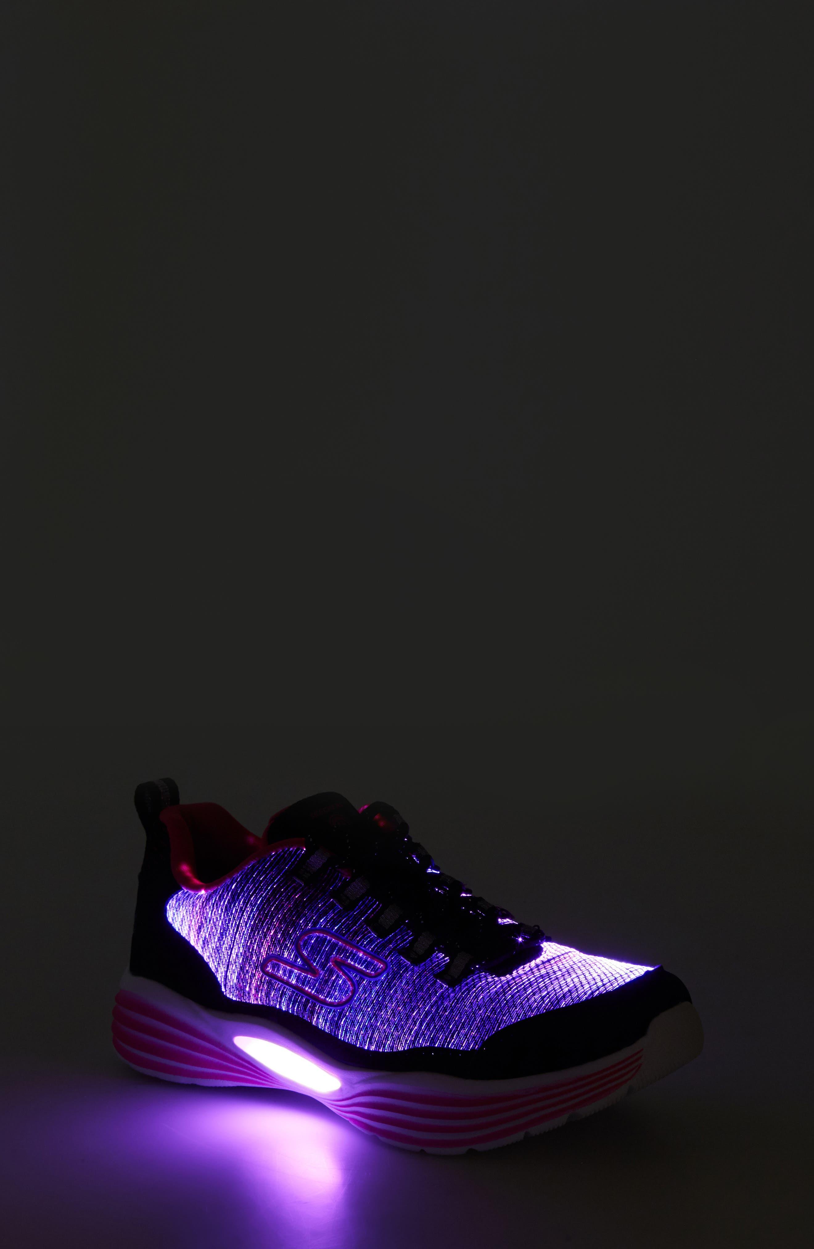 Luminator Light Up Sneaker,                             Alternate thumbnail 7, color,                             BLACK/ PINK