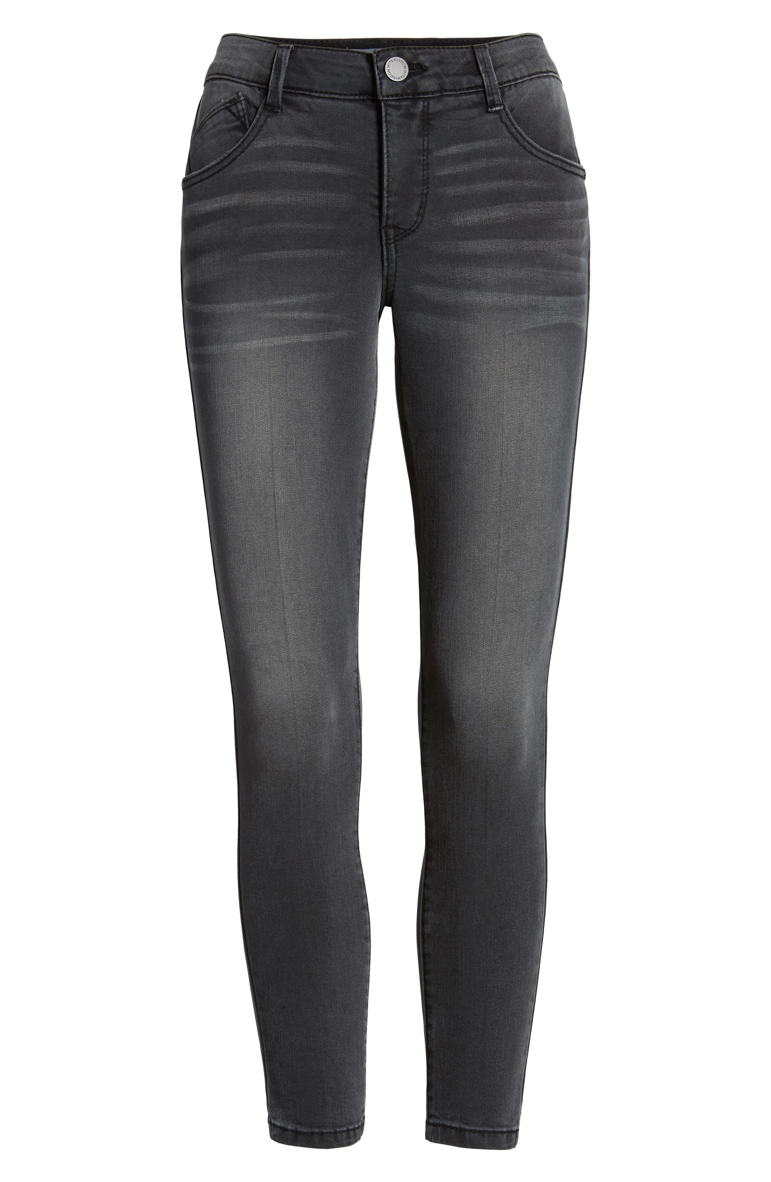 Ab-Solution Ankle Skinny Stretch Jeans,                             Alternate thumbnail 7, color,                             020