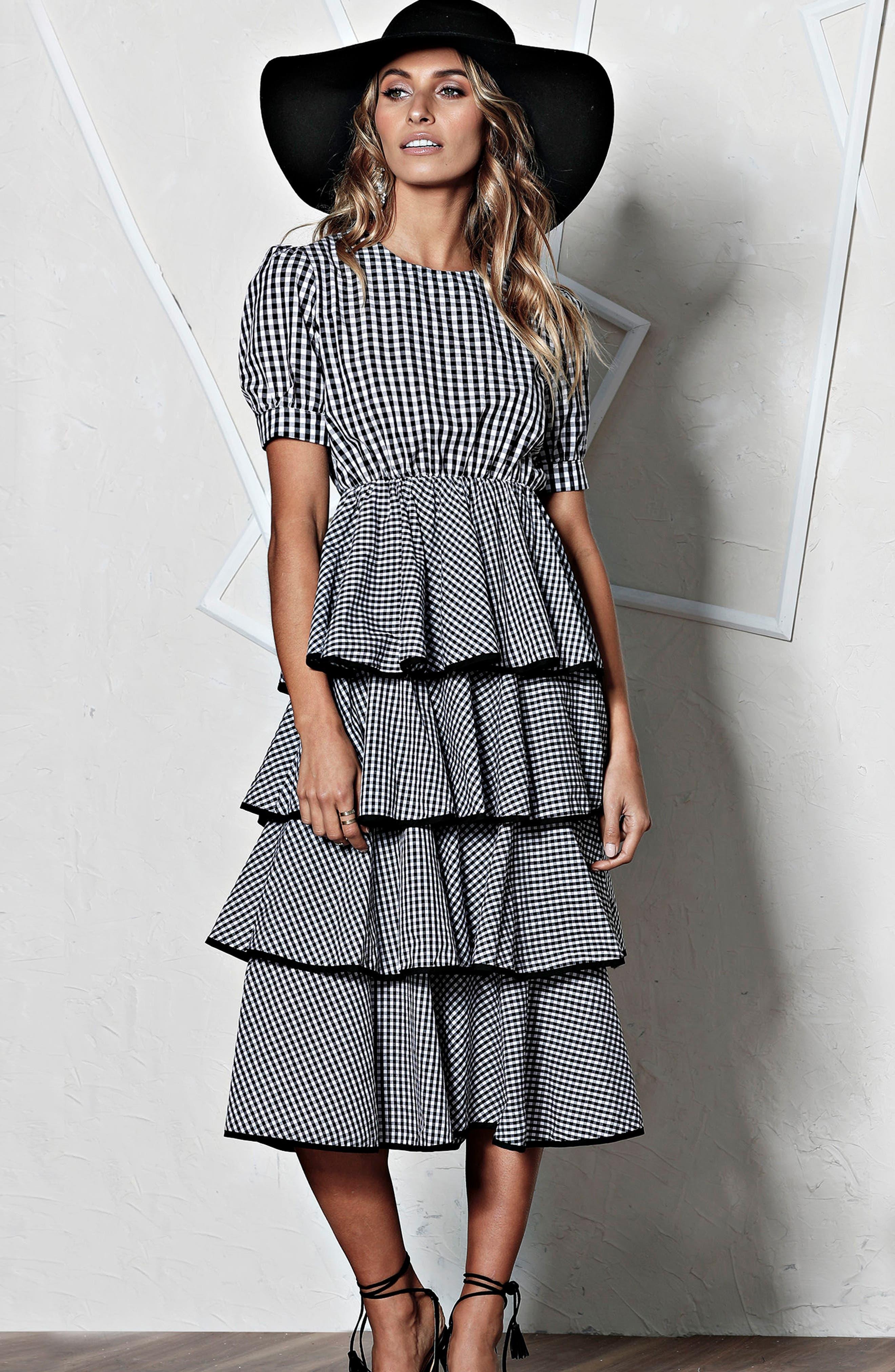 Beauty Buzz Midi Dress,                             Alternate thumbnail 7, color,