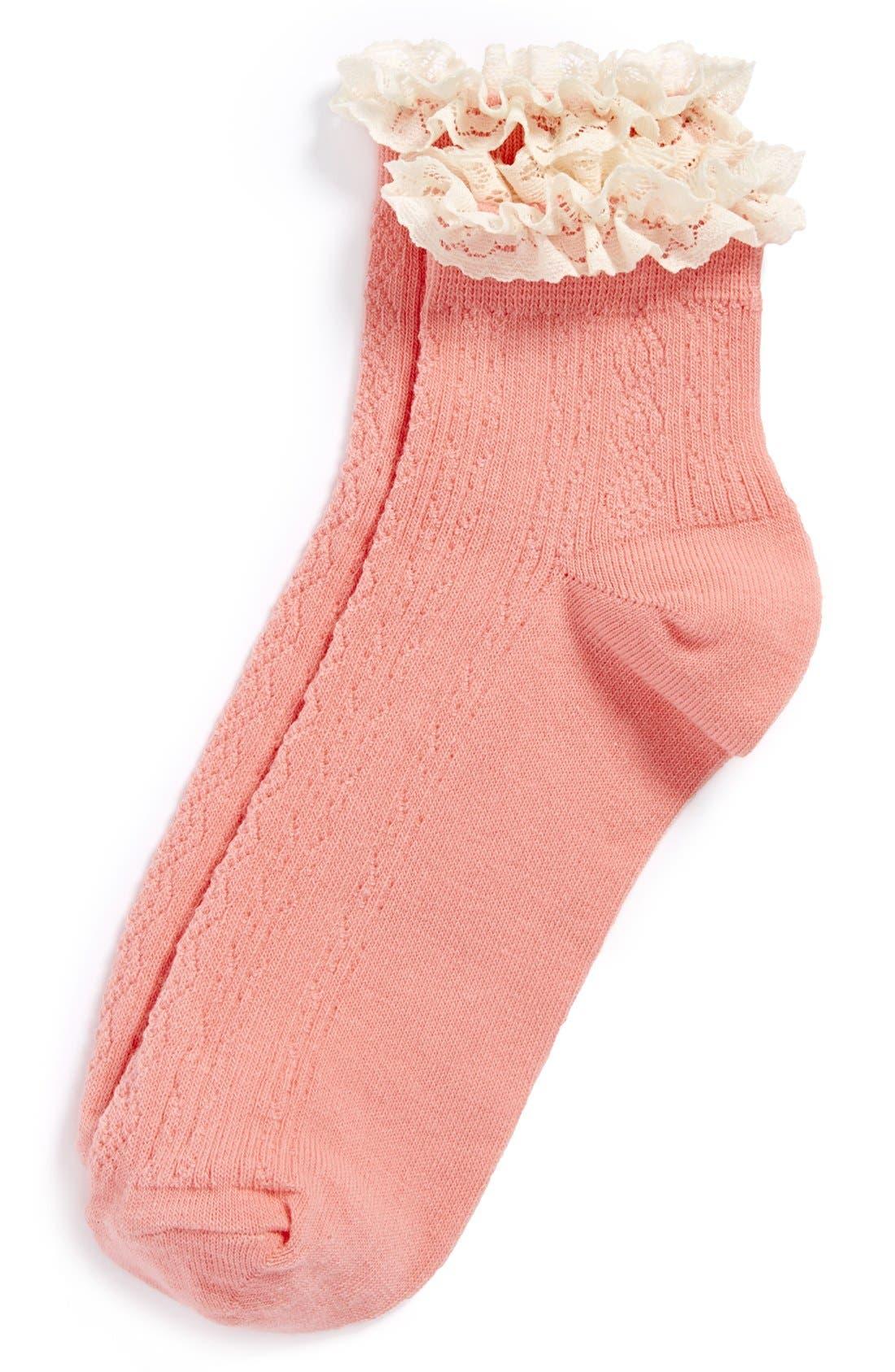 Lace Trim Ankle Socks,                             Main thumbnail 19, color,