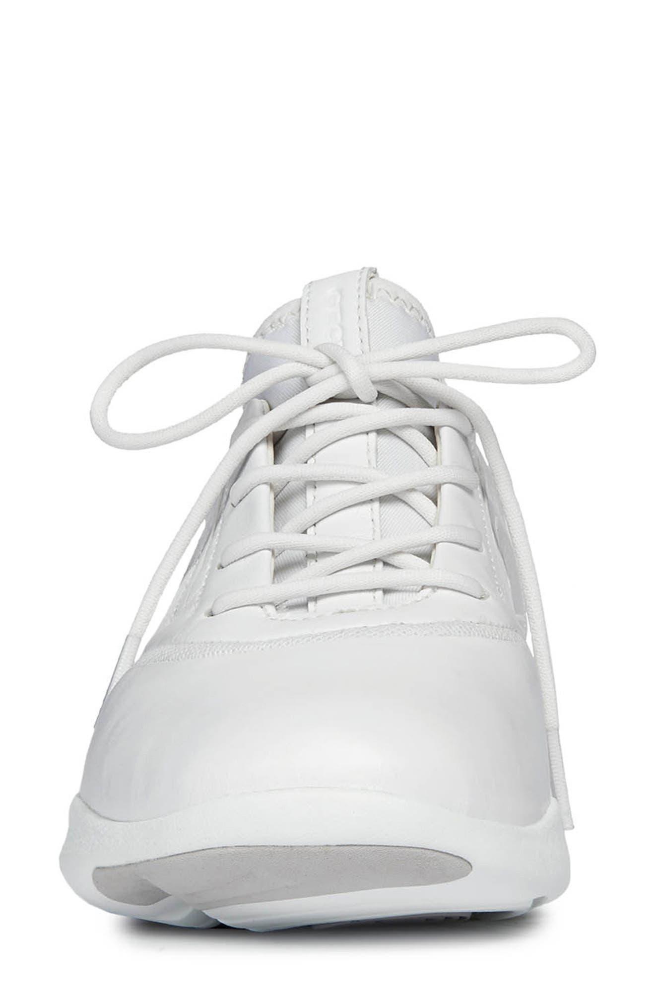 Nebula S 2 Low Top Sneaker,                             Alternate thumbnail 4, color,                             WHITE LEATHER