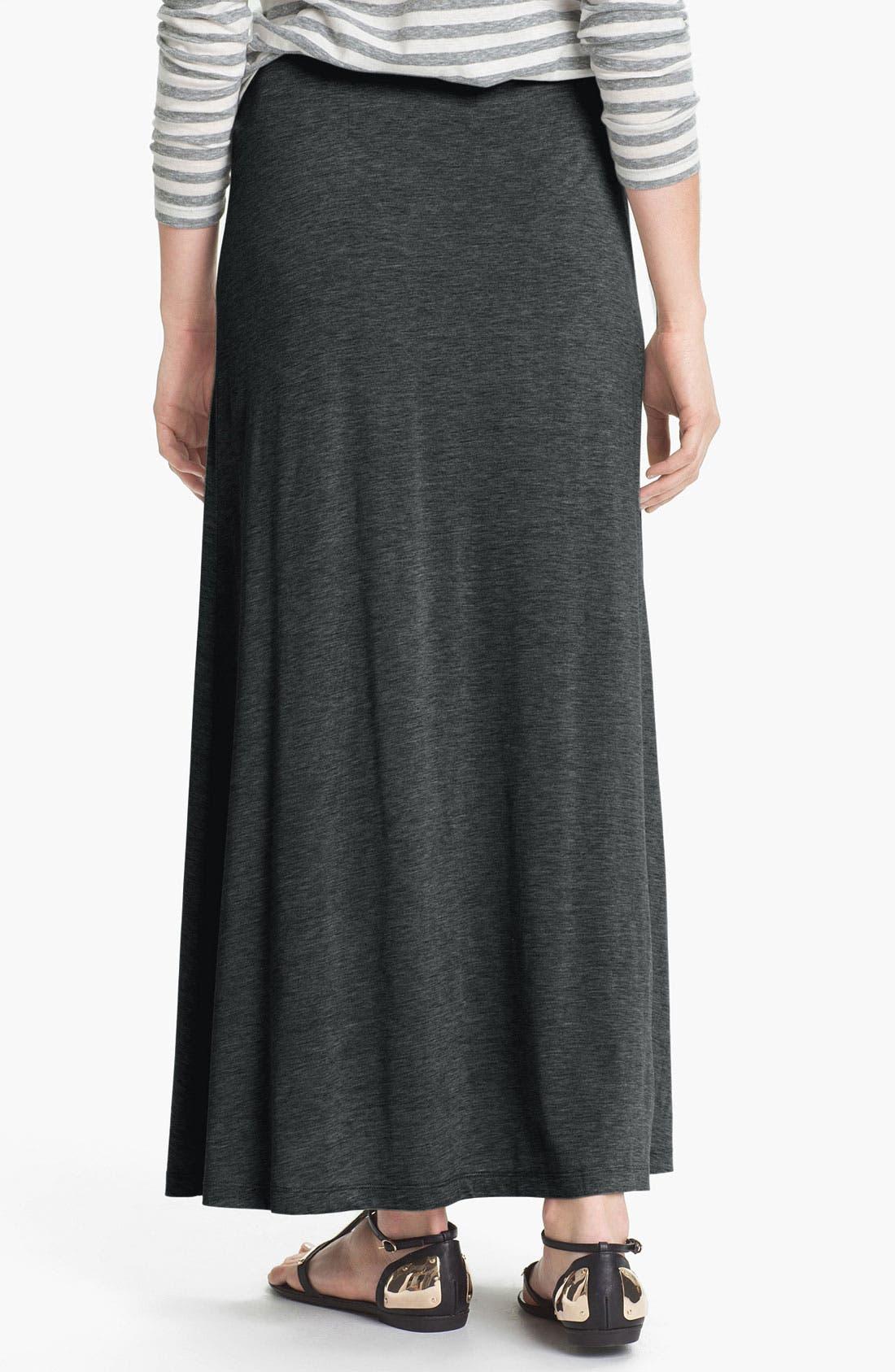 EILEEN FISHER,                             Silk & Cotton Jersey Maxi Skirt,                             Alternate thumbnail 3, color,                             025