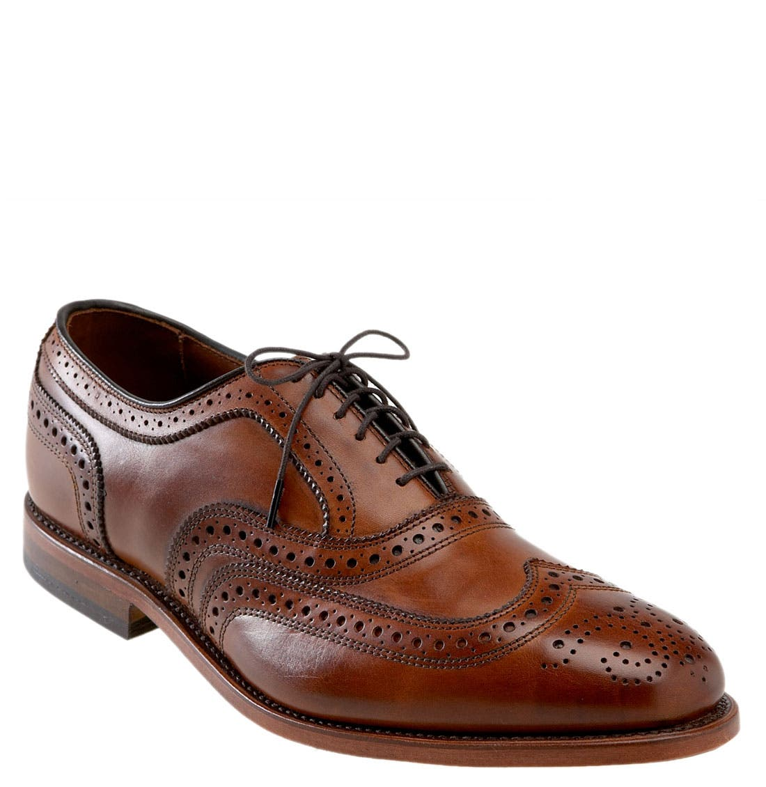 'McAllister' Wingtip,                             Main thumbnail 1, color,                             WALNUT LEATHER