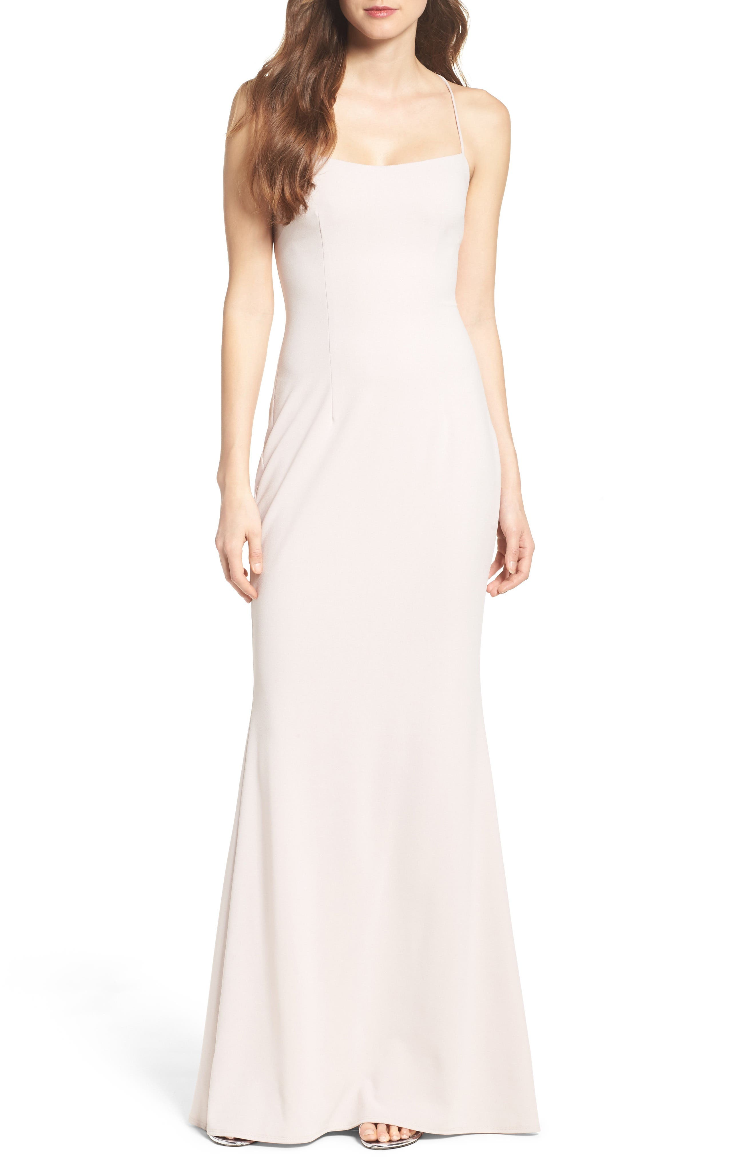 Jean Stretch Crepe Gown,                             Main thumbnail 2, color,