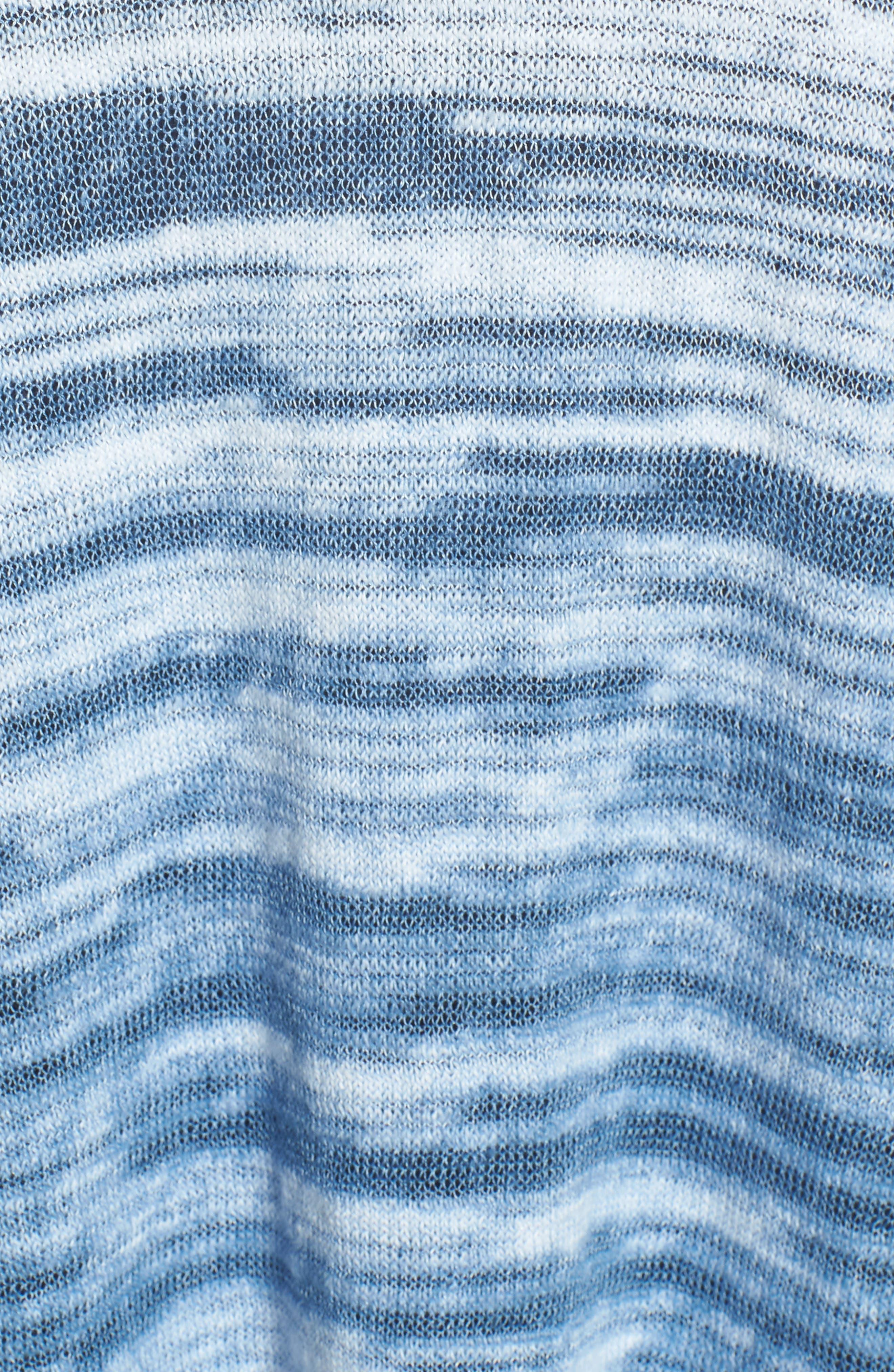 Open Breeze Linen Cotton Ombré Cardigan,                             Alternate thumbnail 5, color,                             413