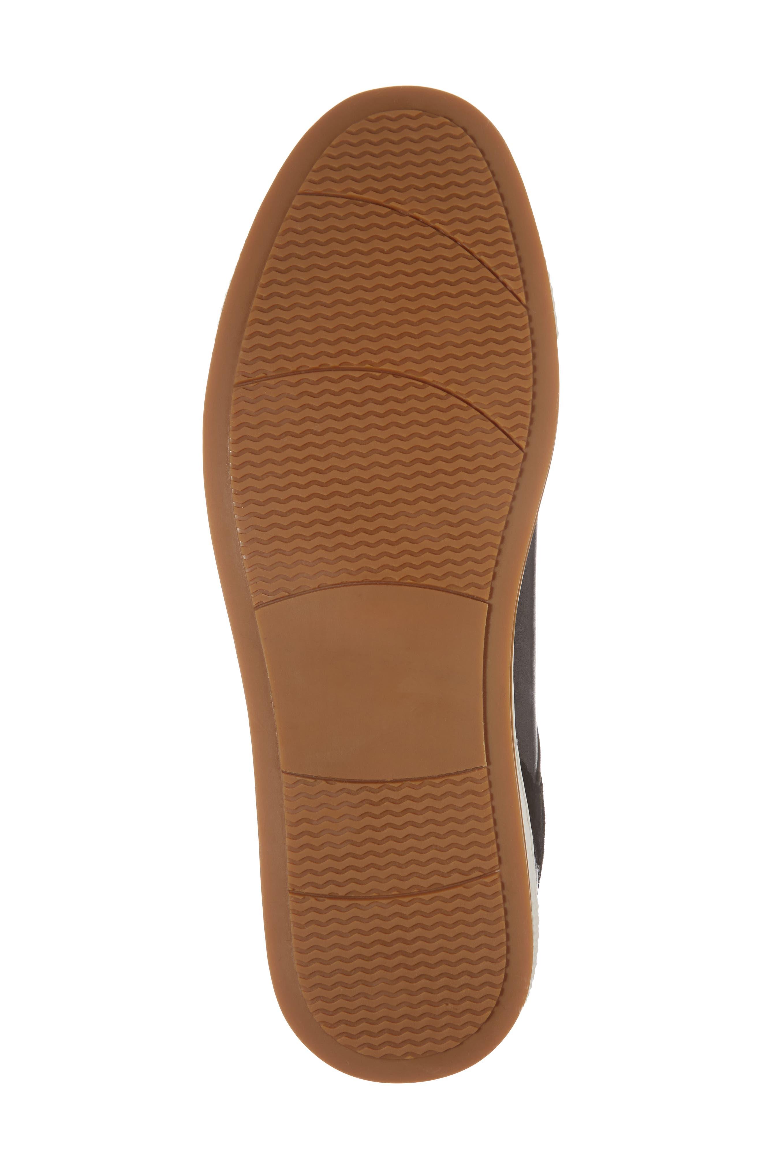 Ireton Low Top Sneaker,                             Alternate thumbnail 6, color,                             BLACK LEATHER/ SUEDE
