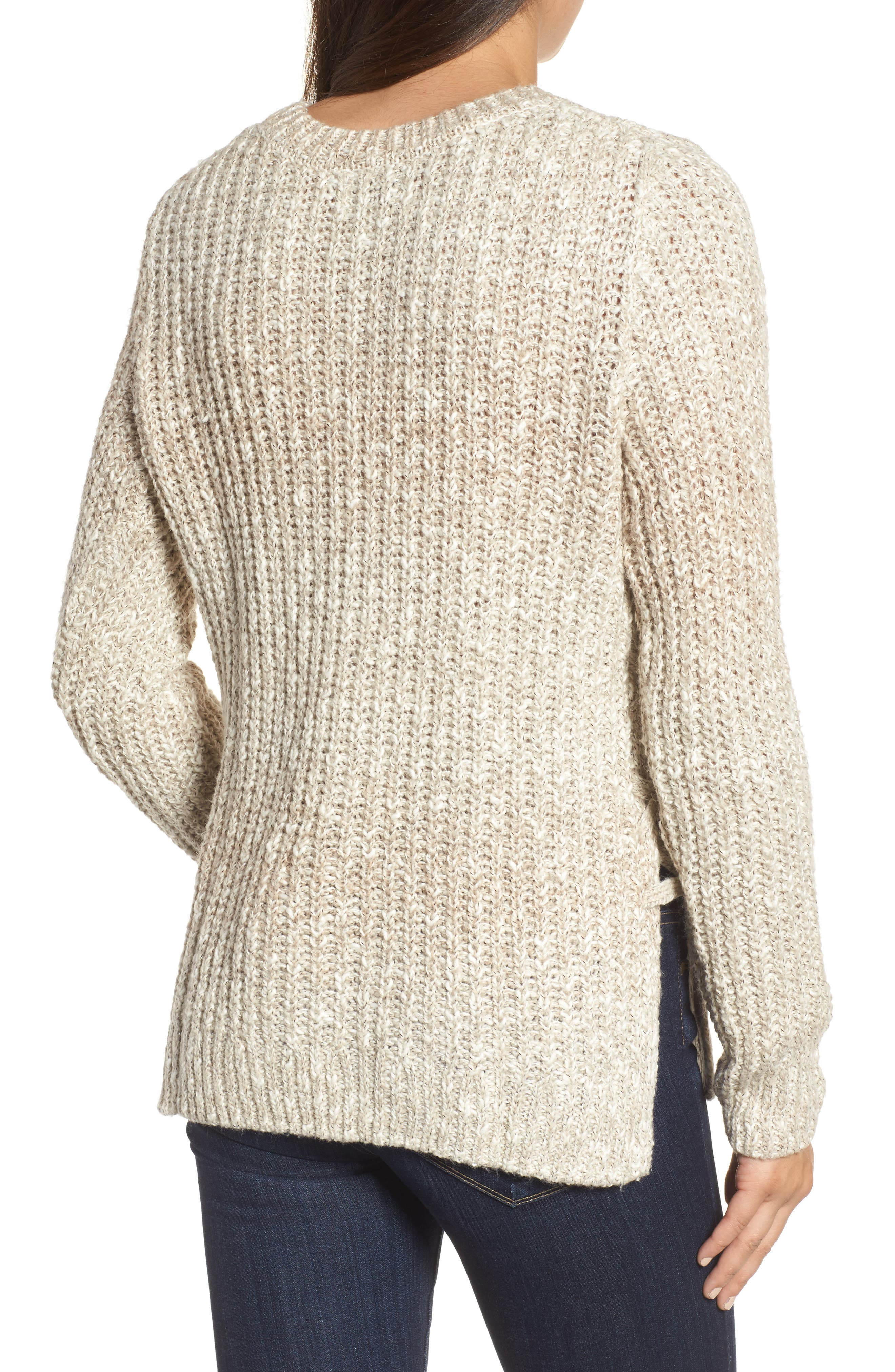 Side Lace-Up Sweater,                             Alternate thumbnail 2, color,                             900