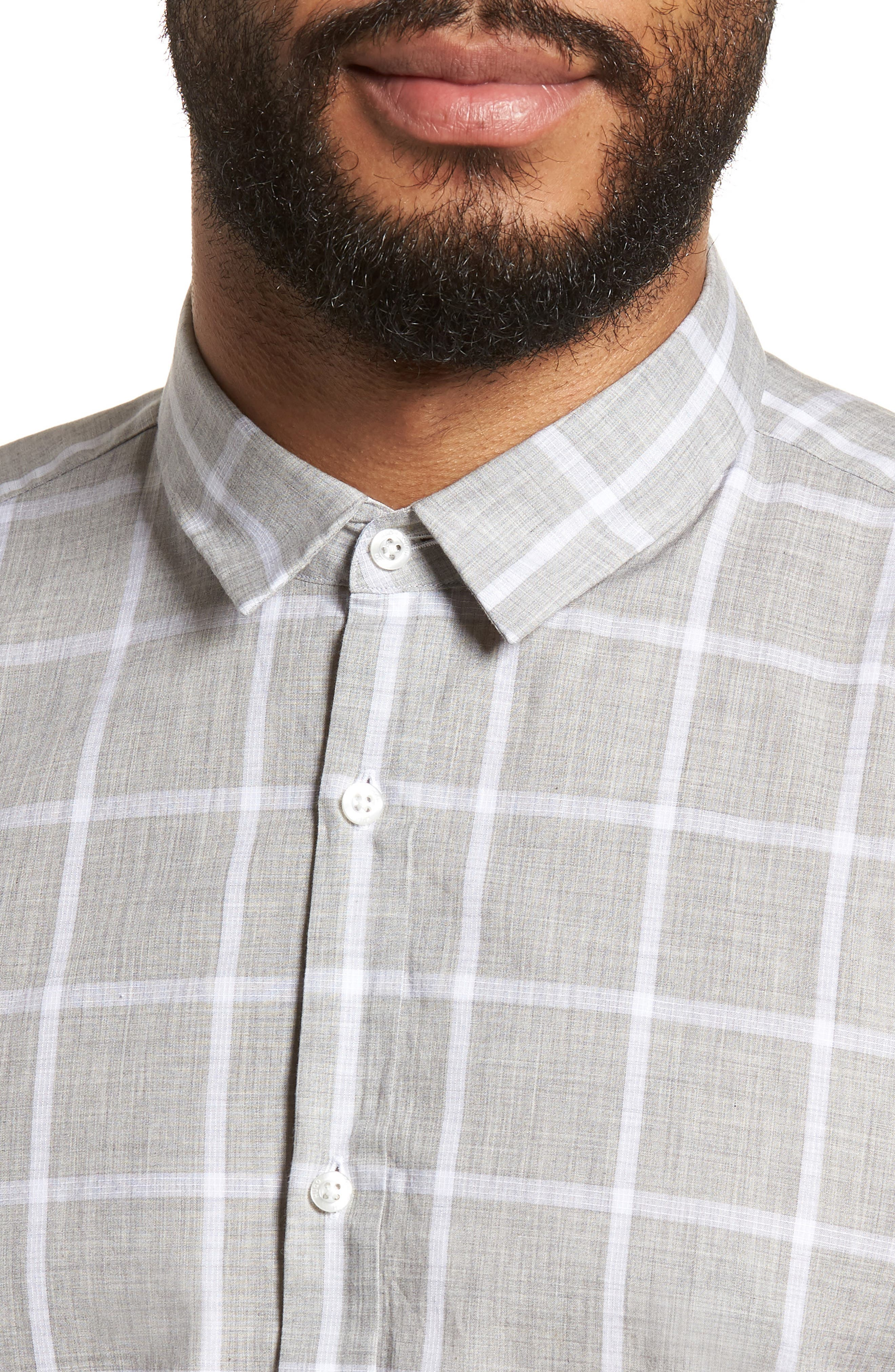 Ero Slim Fit Check Sport Shirt,                             Alternate thumbnail 4, color,                             061
