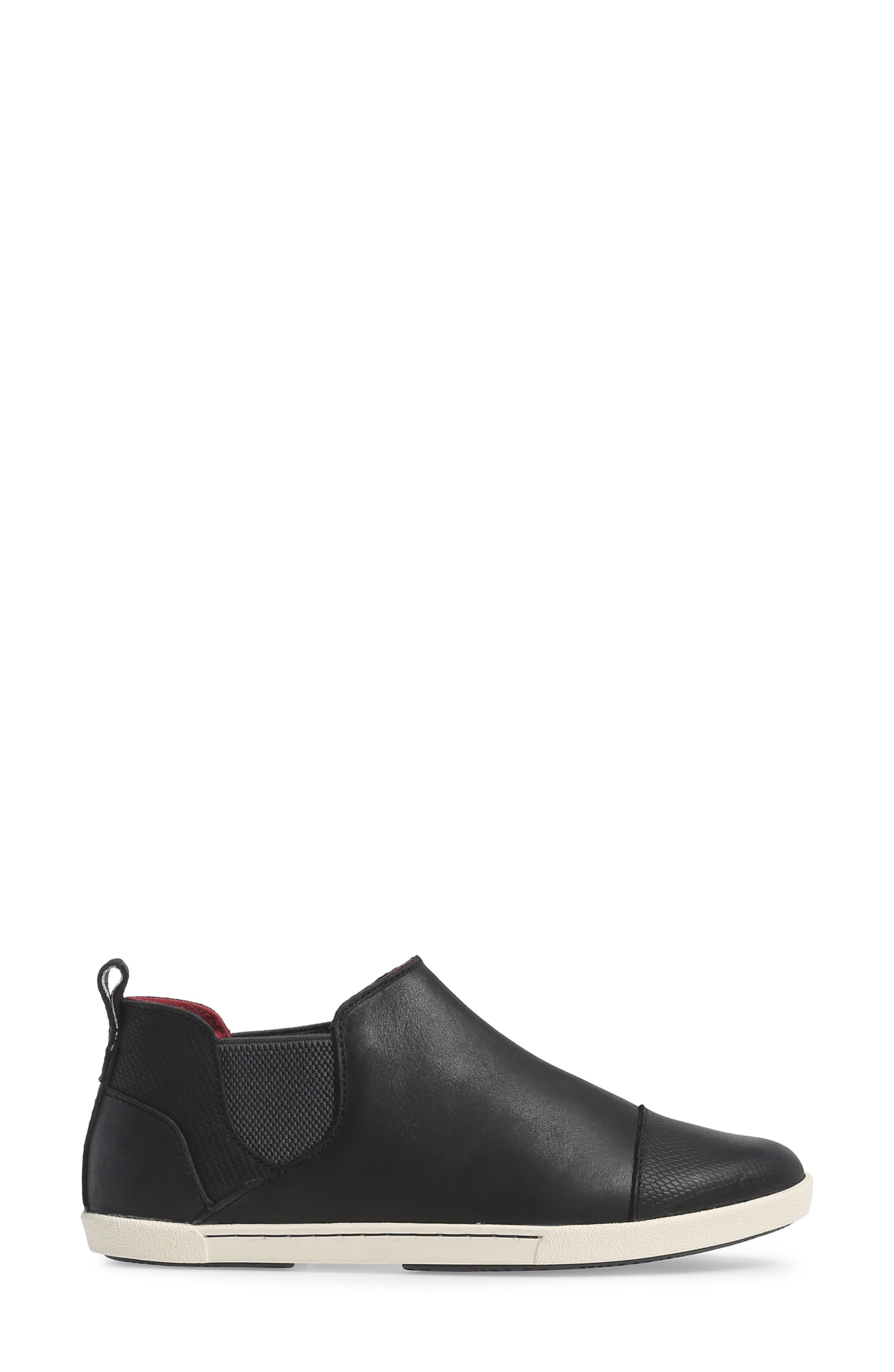 OLUKAI,                             Waipahe Chelsea Sneaker,                             Alternate thumbnail 3, color,                             001